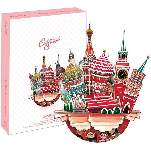 Пазл 3D Городской пейзаж - Москва, CubicFun3D пазлы<br>Пазл 3D Городской пейзаж - Москва, CubicFun - увлекательный набор для творчества, который будет интересен не только детям но даже их родителям. С помощью входящих в набор картонных деталей Вы сможете собрать оригинальный трехмерный пазл в виде городского пейзажа с основными достопримечательностями Москвы. Объемная композиция включает в себя все самые узнаваемые символы Москвы - Собор Василия Блаженного, Красную площадь, памятник Минину и Пожарскому, Спасскую башню. Основание-горшок украшено разноцветными матрешками и кружевом. Пазл обирается без использования клея и ножниц, составные элементы отлично соединяются между собой с помощью специальных соединительных приспособлений. Готовая композиция станет отличным украшением интерьера. Собирание пазла способствует развитию логического мышления, внимания, мелкой моторики и координации движений.<br><br>Дополнительная информация:<br><br>- Материал: картон. <br>- Размер в собранном виде: 15 х 30 х 22 см.<br>- Размер упаковки: 30 х 22 х 4 см.<br>- Вес: 0,3 кг.<br><br>Пазл 3D Городской пейзаж - Москва, CubicFun, можно купить в нашем интернет-магазине.<br>Ширина мм: 225; Глубина мм: 305; Высота мм: 45; Вес г: 440; Возраст от месяцев: 72; Возраст до месяцев: 192; Пол: Унисекс; Возраст: Детский; Количество деталей: 68; SKU: 4038030;
