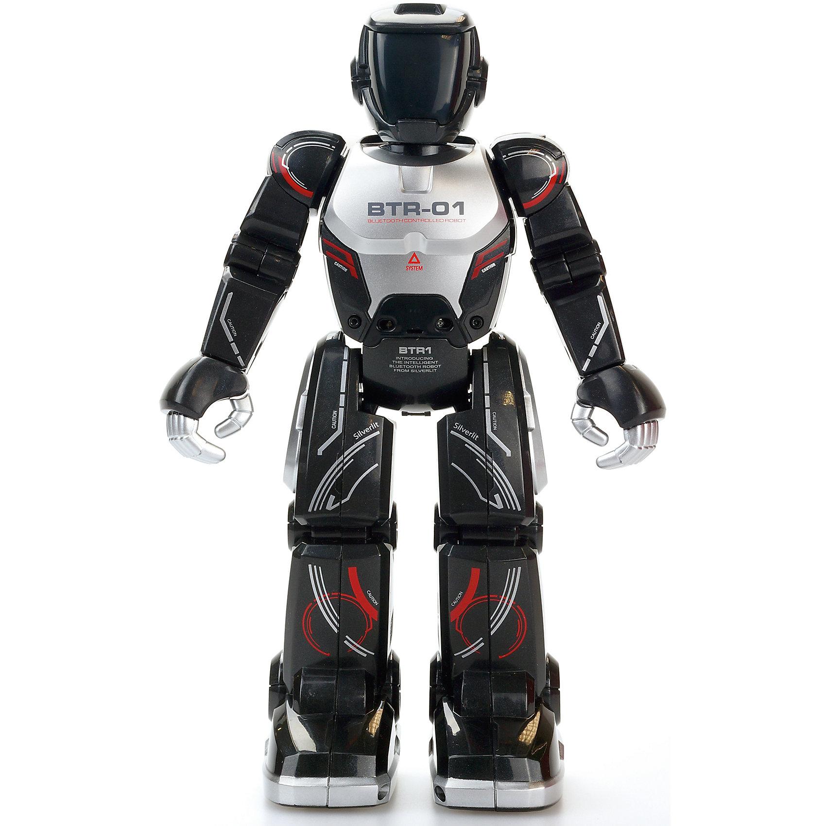 Программируемый робот Полицейский, в ассортименте, SilverlitПрограммируемый робот Полицейский, Silverlit - игрушка нового поколения, рассчитанная на управление с компьютера, смартфона или планшета. Робот управляется с помощью встроенного Bluetooth. С помощью встроенного инфракрасного датчика полицейский может взаимодействовать с другими роботами на расстоянии до 8 метров и распознавать препятствия на своем пути. Если у вас нет планшета или смартфона, игрушка может двигаться без них, выполняя запрограммированные движения - это очень удобно, если с роботом играют маленькие дети. Робот имеет функцию «Шпион», благодаря которой будет проходить запись разговоров.<br><br>Дополнительная информация:<br><br>- Комплектация: робот, аккумулятор, USB провод для зарядки. <br>- Материал: пластик, металл.<br>- Размер: 24 см.<br>- Элемент питания: аккумулятор (в комплекте).<br>- Время зарядки аккумулятора: 1 час.<br>- Время непрерывной работы (при полной зарядке аккумулятора): 30 мин.<br>- Управление: планшет, компьютер, смартфон (IOS , Android).<br>- Голова, руки, пальцы, ноги подвижные.<br>- ИК датчик для распознавания препятствий и других роботов.<br>- Функция Шпион.<br><br>Программируемого робота Полицейский, Silverlit (Сильверлит) можно купить в нашем магазине.<br><br>Ширина мм: 210<br>Глубина мм: 90<br>Высота мм: 300<br>Вес г: 700<br>Возраст от месяцев: 36<br>Возраст до месяцев: 84<br>Пол: Мужской<br>Возраст: Детский<br>SKU: 4039314