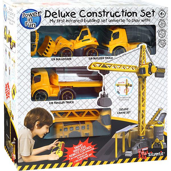 Набор Мега стройка, SilverlitИдеи подарков<br>Хочешь почувствовать себя настоящим строителем? Тогда этот набор для тебя! В набор входит все необходимое для самой огромной стройки: кран, тягач, бульдозер, самосвал, дорожные знаки, контейнеры, поддоны, бочки и другие игровые аксессуары. Все игрушки прекрасно детализированы и реалистично раскрашены. Управление своей собственной стройкой осуществляется при помощи универсального пульта. Используя второй пульт, предназначенный для работы грузовых автомобилей, малыш сможет запускать несколько наименований техники одновременно, что сделает игру еще интересней и увлекательней. Набор изготовлен из высококачественных прочных материалов безопасных для детей. <br><br>Дополнительная информация:<br><br>- Материал: пластик, металл.<br>- Комплектация: кран, тягач, бульдозер, самосвал, пульт управления грузовой техникой, универсальный пульт управления, дорожные знаки, игровые аксессуары.<br>- Размер крана: 63х15х38 см.<br>- Длина грузовика: 40 см.<br>- Длина бульдозера: 20 см.<br>- Размер упаковки: 70,5х40,5х67,8 см.<br>- Элемент питания: батарейки: 3 АА (для крана); 3  АА (для пульта управления ); 3  ААА (для пульта управления грузовыми автомобилями); 3  ААА (для каждой строительной техники) (не входят в комплект).<br><br>Набор Мега стройка, Silverlit (Сильверлит) можно купить в нашем магазине.<br><br>Ширина мм: 272<br>Глубина мм: 639<br>Высота мм: 615<br>Вес г: 660<br>Возраст от месяцев: 36<br>Возраст до месяцев: 84<br>Пол: Мужской<br>Возраст: Детский<br>SKU: 4039315