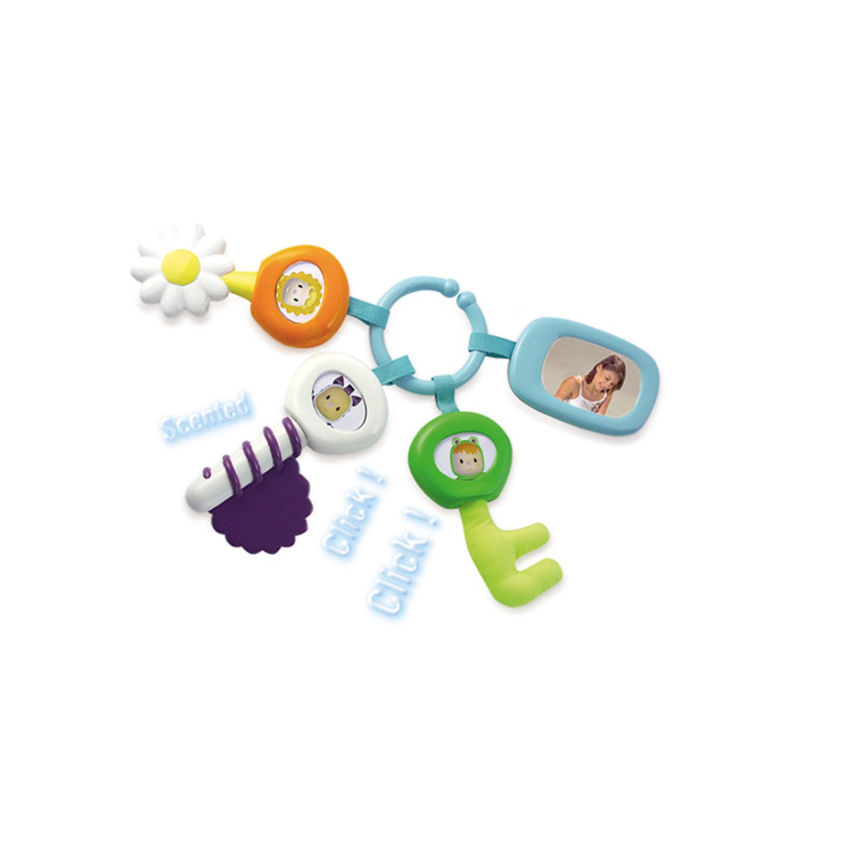 Smoby Cotoons Брелок с ключамиПрорезыватели<br>Smoby Cotoons Брелок с ключами – это и забавный яркий аксессуар, и прорезыватель, и погремушка.<br>Игрушка «Брелок с ключами» — это зеркальце и три ключа с разными функциями. Игрушка подходит для новорожденных и может служить погремушкой, зубопрорезывателем и даже брелоком к сумочке с вещами малыша. Три ключика и зеркальце держатся на кольце-брелоке. Во всех ключиках гремят шарики. В зеркальце можно вставить фото малыша. Ваш малыш будет с удовольствием рассматривать яркие разноцветные ключи, развивая зрение. А прислушиваясь к звукам, которые издаёт погремушка – совершенствовать слуховое восприятие. Став немного старше, ребенок сможет учиться захватывать брелок ручкой, при этом отлично развивается мелкая моторика. Игрушка выполнена из безопасного гипоаллергенного пластика.<br><br>Дополнительная информация:<br><br>- Цвет: оранжевый, белый, голубой, салатовый<br>- Комплект: 3 ключика, зеркальце, кольцо<br>- Материал: пластик<br>- Размер упаковки: 24 х 22 х 4 см.<br><br>Smoby Cotoons Брелок с ключами можно купить в нашем интернет-магазине.<br><br>Ширина мм: 240<br>Глубина мм: 220<br>Высота мм: 40<br>Вес г: 1160<br>Возраст от месяцев: 0<br>Возраст до месяцев: 24<br>Пол: Унисекс<br>Возраст: Детский<br>SKU: 4039813