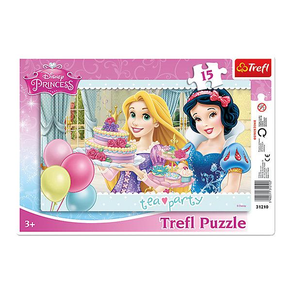 Пазлы Trefl Принцессы Диснея Чайная вечеринка, 15 деталей