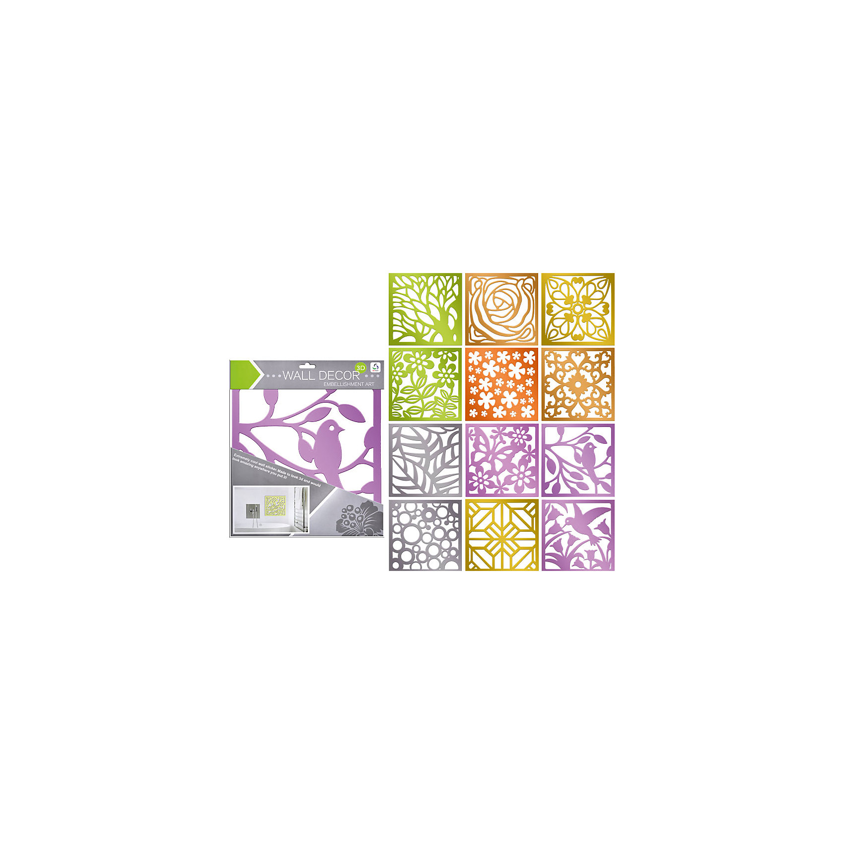 Зеркальная наклейка 30*30 см (в ассортименте)Зеркальная наклейка 30*30 см (в ассортименте) прекрасно подойдет для декора Вашего интерьера. Благодаря самоклеящейся поверхности легко наклеивается на любую ровную поверхность (стену, кафель, дверь, окно и др.) и также просто удаляется, не оставляя следов. <br><br>Характеристики:<br>-можно нанести практически на любую поверхность<br>-легко удаляются и не оставляют пятен<br>-помогут скрыть дефект и недостатки стен<br>-дают возможность проявить свою фантазию и выступить в роли дизайнера<br>-станут оригинальным подарком для друзей и родных<br><br>Дополнительная информация:<br>-Размеры: 30х30 см<br>-В ассортименте: 12 дизайнов (заранее выбрать невозможно, при заказе нескольких возможно получение одинаковых)<br>-Материалы: ПВХ<br><br>Зеркальная наклейка – прекрасное решение, которое позволит преобразить и оживить Ваш интерьер за минуту!<br><br>Зеркальную наклейку 30*30 см (в ассортименте) можно купить в нашем магазине.<br><br>Ширина мм: 300<br>Глубина мм: 300<br>Высота мм: 10<br>Вес г: 100<br>Возраст от месяцев: 36<br>Возраст до месяцев: 216<br>Пол: Унисекс<br>Возраст: Детский<br>SKU: 4040370