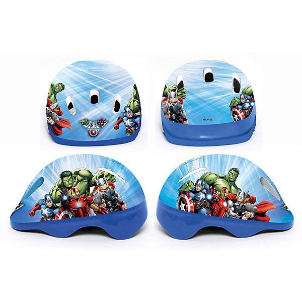 Шлем, размер M, МстителиЗащита, шлемы<br>Шлем, размер M, Мстители – этот шлем обеспечит надежную защиту и безопасность вашего ребенка.<br>Шлем Мстители выполнен в синей расцветке и украшен изображениями популярных супергероев Marvel: Халка, Капитана Америки, Железного Человека и Тора. Шлем защитит голову ребенка от ударов при падении с велосипеда или любого другого транспортного средства. Такой шлем будет не только прекрасной защитой, но и подчеркнет индивидуальность ребенка! Шлем изготовлен из ударопрочного высококачественного пластика.<br><br>Дополнительная информация:<br><br>- Размер: М<br>- Материал: высококачественный пластик<br>- Упаковка: пакет с хедером<br>- Размер упаковки: 30 х 30 х 70 см.<br>- Вес: 250 гр.<br><br>Шлем, размер M, Мстители (Avengers) можно купить в нашем интернет-магазине.<br>Ширина мм: 420; Глубина мм: 520; Высота мм: 1210; Вес г: 240; Возраст от месяцев: 96; Возраст до месяцев: 192; Пол: Мужской; Возраст: Детский; SKU: 4042366;