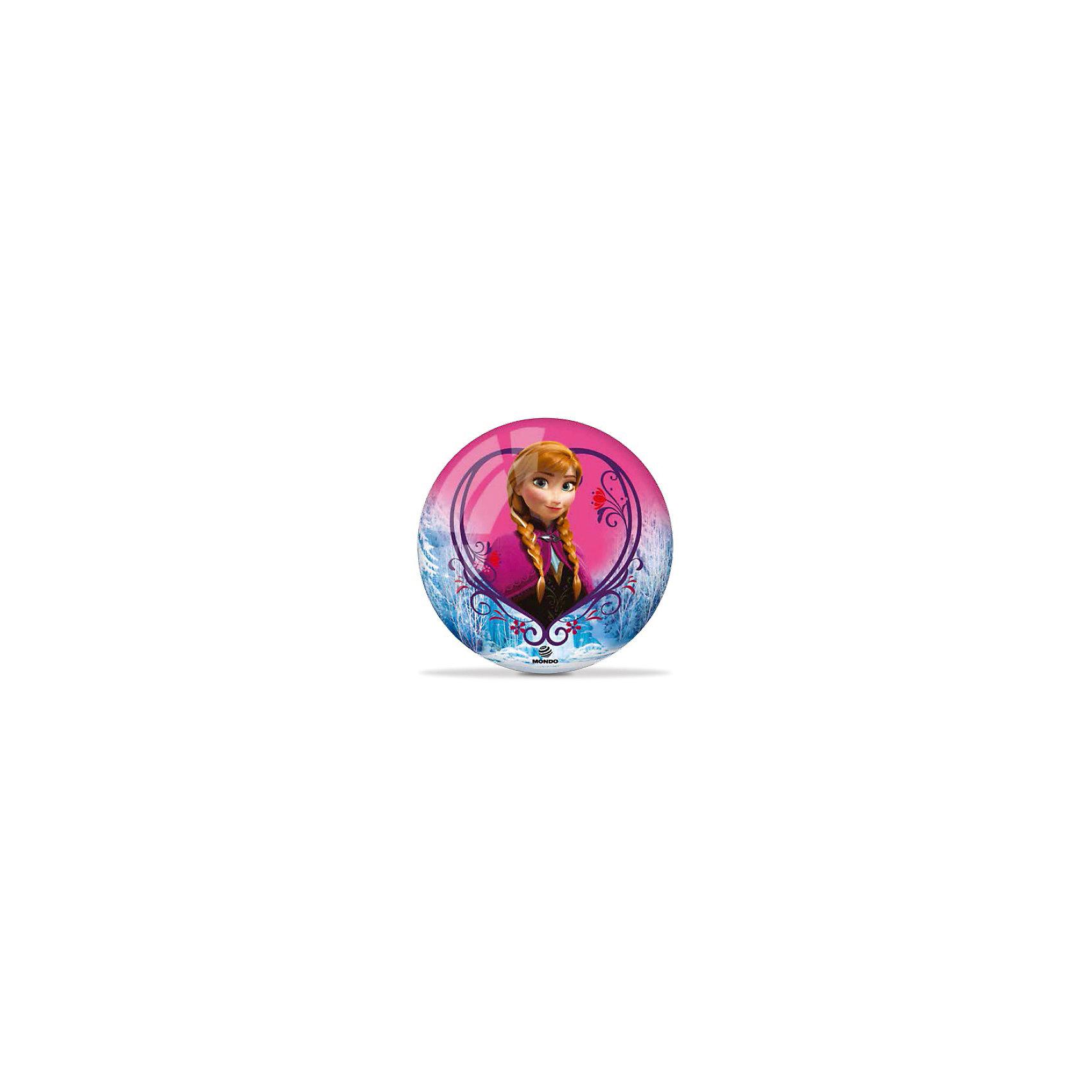 Мяч Холодное сердце, 23 см,  MondoКрасивый, яркий мячик  с героями известного мультфильма Холодное сердце обязательно понравится ребенку. Он выполнен из высококачественной прочной резины, при нанесении изображения использованы безопасные для детей красители, имеет удобный для игр размер. Игра в мяч развивает координацию движений, моторику рук и ног, стимулирует детей к физической активности и просто приносит множество улыбок и веселых мгновений.<br><br>Дополнительная информация:<br><br>- Материал: резина.<br>- Цвет: голубой, розовый.<br>- Рисунок Холодное сердце<br>- Размер: 23 см. <br><br>Мяч Холодное сердце, 23 см,  Mondo можно купить в нашем магазине.<br><br>Ширина мм: 230<br>Глубина мм: 230<br>Высота мм: 230<br>Вес г: 140<br>Возраст от месяцев: 36<br>Возраст до месяцев: 84<br>Пол: Женский<br>Возраст: Детский<br>SKU: 4042922