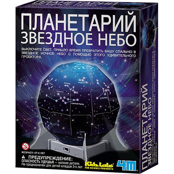 Планетарий Звездное небо, 4МПланетарии<br>Набор Планетарий Звездное небо, 4М предлагает самостоятельно собрать домашний планетарий, постигнуть тайны космоса и узнать некоторые интересные астрономические факты о созвездиях. Проделайте отверстия в специальных местах, вставьте батарейки, выключите свет и превратите детскую спальную в ночное звездное небо с помощью этого удивительного проектора! Работа с данным набором развивает фантазию, подстегивает интерес к астрономии, и весь процесс сборки планетария становится увлекательным и познавательным.<br><br>Комплектация:<br>-заготовки для создания куполов северного и южного полушарий<br>-светильник с переключателем<br>-4 опоры для купола<br>-кусок клейкой ленты<br>-подробная инструкция со звездными картами полушарий<br><br>Дополнительная информация:<br>-Вес в упаковке: 300 г<br>-Размеры в упаковке: 220х170х60 мм<br>-Материал: пластик<br><br>Подарите юным поклонникам астрономии захватывающий научно-познавательный набор Планетарий «Звездное небо»! <br><br>Набор Планетарий Звездное небо, 4М можно купить в нашем магазине.<br>Ширина мм: 220; Глубина мм: 170; Высота мм: 60; Вес г: 300; Возраст от месяцев: 84; Возраст до месяцев: 168; Пол: Унисекс; Возраст: Детский; SKU: 4043573;