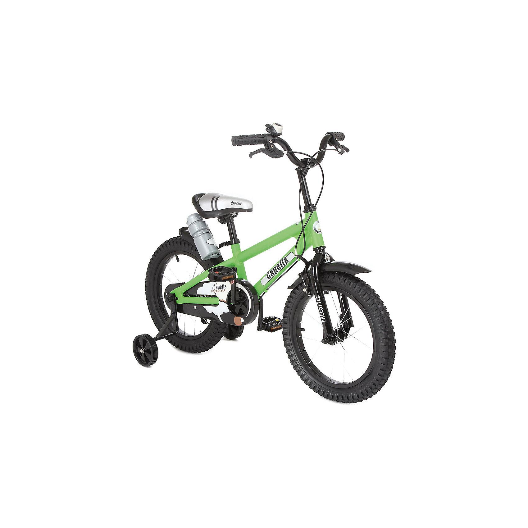 Велосипед двухколесный 16, зеленый, Capella
