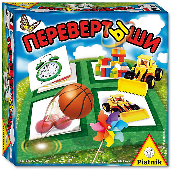 Игра Перевертыши,  PiatnikНастольные игры для всей семьи<br>Игра Перевертыши, Piatnik - простая увлекательная игра, в которую могут играть даже самые маленькие детишки от 3 лет. В игре могут участвовать от 2 до 4 игроков. Каждый участник получает большую карточку с 4 картинками, кроме того, имеются еще маленькие карточки с одной картинкой. Правила игры просты и понятны для малышей: с помощью маленьких карточек заполнять соответствующие поля на своей большой игровой карточке. Задача может оказаться очень лёгкой на первый взгляд, если бы картинки постоянно не менялись. Игра развивает  внимательность и логическое мышление. <br><br>Дополнительная информация:<br><br>- В комплекте: 48 маленьких карточек, 4 больших карточки, правила игры на русском языке. <br>- Материал: картон.<br>- Размер упаковки: 16,5 х 16,5 х 5,5 см.<br>- Вес: 0,45 гр.<br><br>Игру Перевертыши, Piatnik, можно купить в нашем интернет-магазине.<br>Ширина мм: 165; Глубина мм: 55; Высота мм: 165; Вес г: 200; Возраст от месяцев: 36; Возраст до месяцев: 72; Пол: Унисекс; Возраст: Детский; SKU: 4043672;