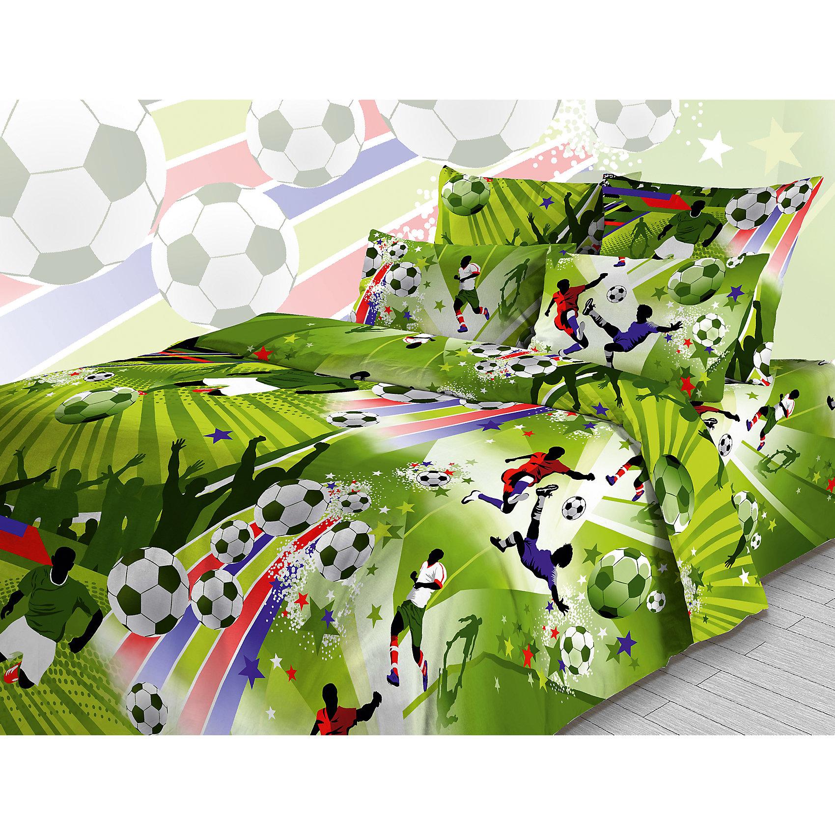 Комплект Футбол (зеленый, наволочка 70*70 см) 1,5-спальный, ВасилёкДомашний текстиль<br>Отличный Комплект Футбол (зеленый, наволочка 70*70 см) 1,5-спальный, Василёк придется по душе всем любителям футбола. Постельное белье выполнено из бязи и оформлено на футбольную тематику с многочисленными принтами и сценами из популярной игры. Детское постельное белье Футбол отлично украсит спальню Вашего ребенка и подарит ему крепкий сон!<br><br>Характеристики:<br>-Цвет: зеленый<br>-100 % хлопок<br>-Легко гладится<br>-Долговечность<br>-Гипоалергенно<br>-Яркий дизайн <br><br>Комплектация: простыня, пододеяльник, наволочка <br><br>Дополнительная информация:<br>-Вес в упаковке: 1,5 кг<br>-Размеры в упаковке: 30х5х30 см<br>-Размеры простыни: 150х214 см<br>-Размеры пододеяльника: 148х215 см<br>-Размеры наволочки: 70х70 см<br>-Материалы: бязь (хлопок 100 %)<br><br>Приобретя комплект постельного белья «Футбол», Вам не придется долго уговаривать идти ребенка спать!<br><br>Комплект Футбол (зеленый, наволочка 70*70 см) 1,5-спальный, Василёк можно купить в нашем магазине.<br><br>Ширина мм: 300<br>Глубина мм: 50<br>Высота мм: 300<br>Вес г: 1500<br>Возраст от месяцев: 36<br>Возраст до месяцев: 216<br>Пол: Мужской<br>Возраст: Детский<br>SKU: 4044197