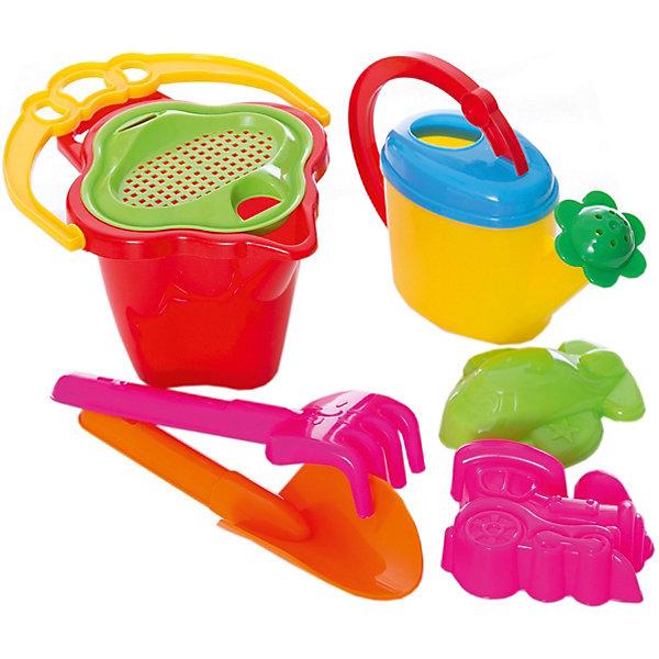 Набор для песочницы № 114, СтелларИграем в песочнице<br>Этот яркий набор обязательно заинтересует ребенка. Он включает в себя все, что нужно для игр с песком и водой. Ведро имеет крышку-сито с прорезями, в которую удобно вставляются грабли и совок. Практически все детали набора компактно помещаются в небольшом ведерке, так что малыш может носить свои игрушки самостоятельно. Прекрасный набор для пляжного отдыха или игр в песочнице. Игрушка выполнена из высококачественного пластика, не имеет острых углов, безопасна для детей. <br><br>Дополнительная информация:<br><br>- Материал: пластик.<br>- Цвет: зеленый, желтый, голубой, розовый. <br>- Комплектация: ведро, сито, грабли, совок, формочки ( 2 шт.), лейка.<br>- Размер: ведро 0,6 л, грабли - 19см, совок - 19 см, лейка - 0,3 см.<br><br>Набор для песочницы № 114, Стеллар, можно купить в нашем магазине.<br><br>Ширина мм: 140<br>Глубина мм: 165<br>Высота мм: 240<br>Вес г: 170<br>Возраст от месяцев: 36<br>Возраст до месяцев: 72<br>Пол: Унисекс<br>Возраст: Детский<br>SKU: 4044372