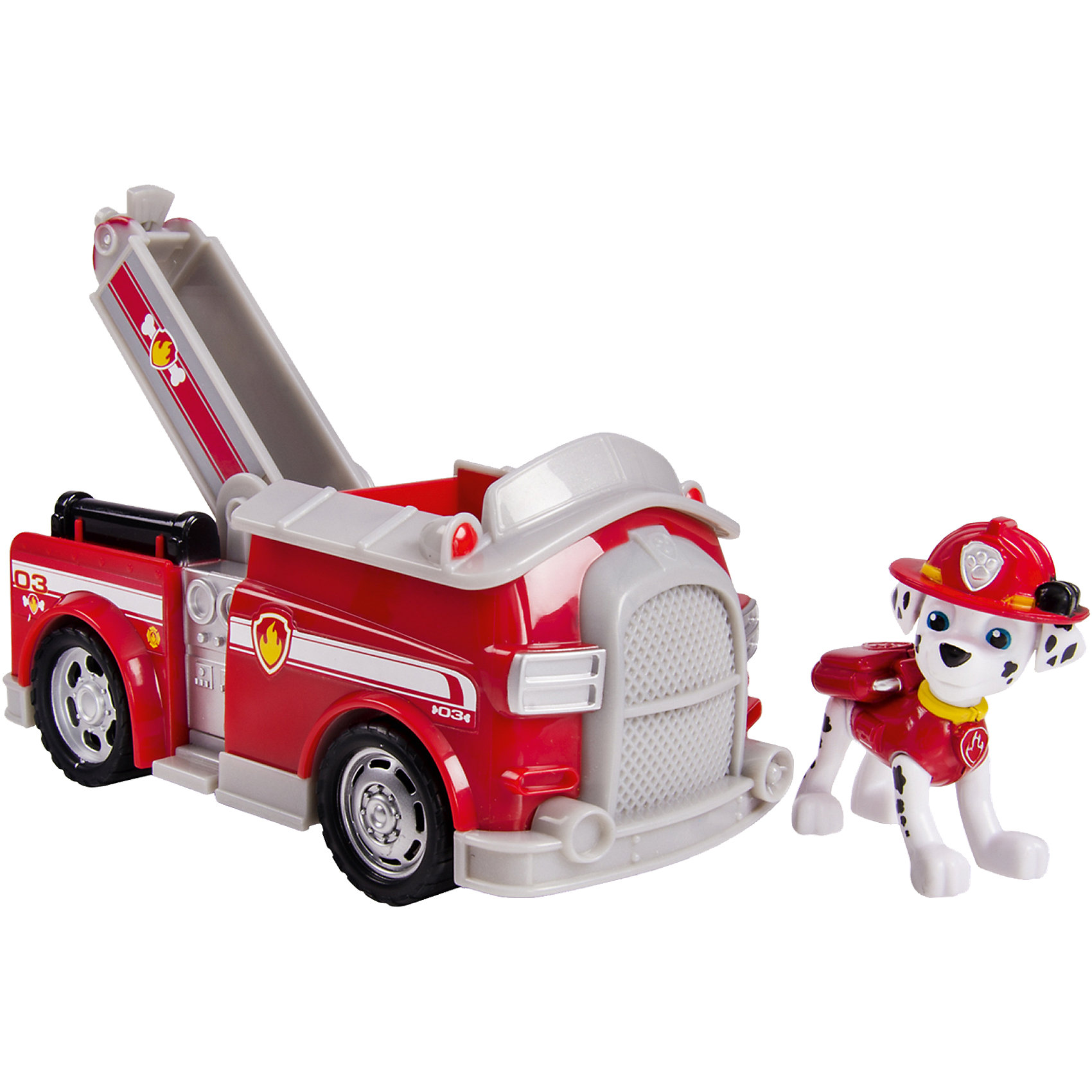 Машинка спасателя и щенок Маршал, Щенячий патруль, Spin MasterИгровые наборы<br>Маршал - смелый и отважный щенок-спасатель из известного мультсериала Щенячий патруль(Paw Patrol). Он ездит на пожарной машине и всегда готов прийти на помощь! Скорее посади щенка в машину и отправляйся на поиски приключений. Все детали игрушки выполнены из высококачественных материалов. Машинка и щенок прекрасно детализированы и реалистично раскрашены. Собери всех героев из серии Paw Patrol (Щенячий патруль), проигрывай сцены из мультфильма или придумывай свои новые истории.<br><br>Дополнительная информация:<br><br>- Материал: пластик. <br>- Размер машинки: 17 см. <br>- У щенка подвижные ноги и голова.<br>- Колеса машинки вращаются.<br>- Комплектация: машинка, щенок.<br><br>Машинку спасателя и щенка Маршала, Щенячий патруль, Spin Master (Спин Мастер) можно купить в нашем магазине.<br><br>Ширина мм: 95<br>Глубина мм: 216<br>Высота мм: 191<br>Вес г: 416<br>Возраст от месяцев: 36<br>Возраст до месяцев: 72<br>Пол: Унисекс<br>Возраст: Детский<br>SKU: 4045786