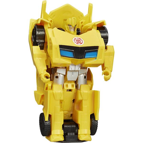 Уан Стэп Бамблби, Роботс-ин-Дисгайс, ТрансформерыТрансформеры-игрушки<br>Уан Стэп Бамблби, Роботс-ин-Дисгайс (Robots in Disguise) станет замечательным подарком для всех поклонников фильма Трансформеры (Transformers). Серия Уан Стэп (One-step) создана по мотивам фантастического фильма Трансформеры 4: Эпоха истребления (Transformers: Age of Extinction) и включает в себя фигуры роботов, которых Вы легко сможете преобразовать в фантастическое транспортное средство, динозавра или машину.<br>Фигурка отличается высокой степенью детализации и реалистичностью и полностью соответствует своему персонажу из фильма.<br><br>Дополнительная информация:<br><br>- Материал: пластик.<br>- Размер упаковки: 17,8 x 15,2 x 6 см.<br>- Вес: 101 гр.<br><br>Игровой набор Уан Стэп Бамблби, Роботс-ин-Дисгайс, Трансформеры, можно купить в нашем интернет-магазине.<br>Ширина мм: 178; Глубина мм: 151; Высота мм: 67; Вес г: 123; Возраст от месяцев: 60; Возраст до месяцев: 120; Пол: Мужской; Возраст: Детский; SKU: 4046548;