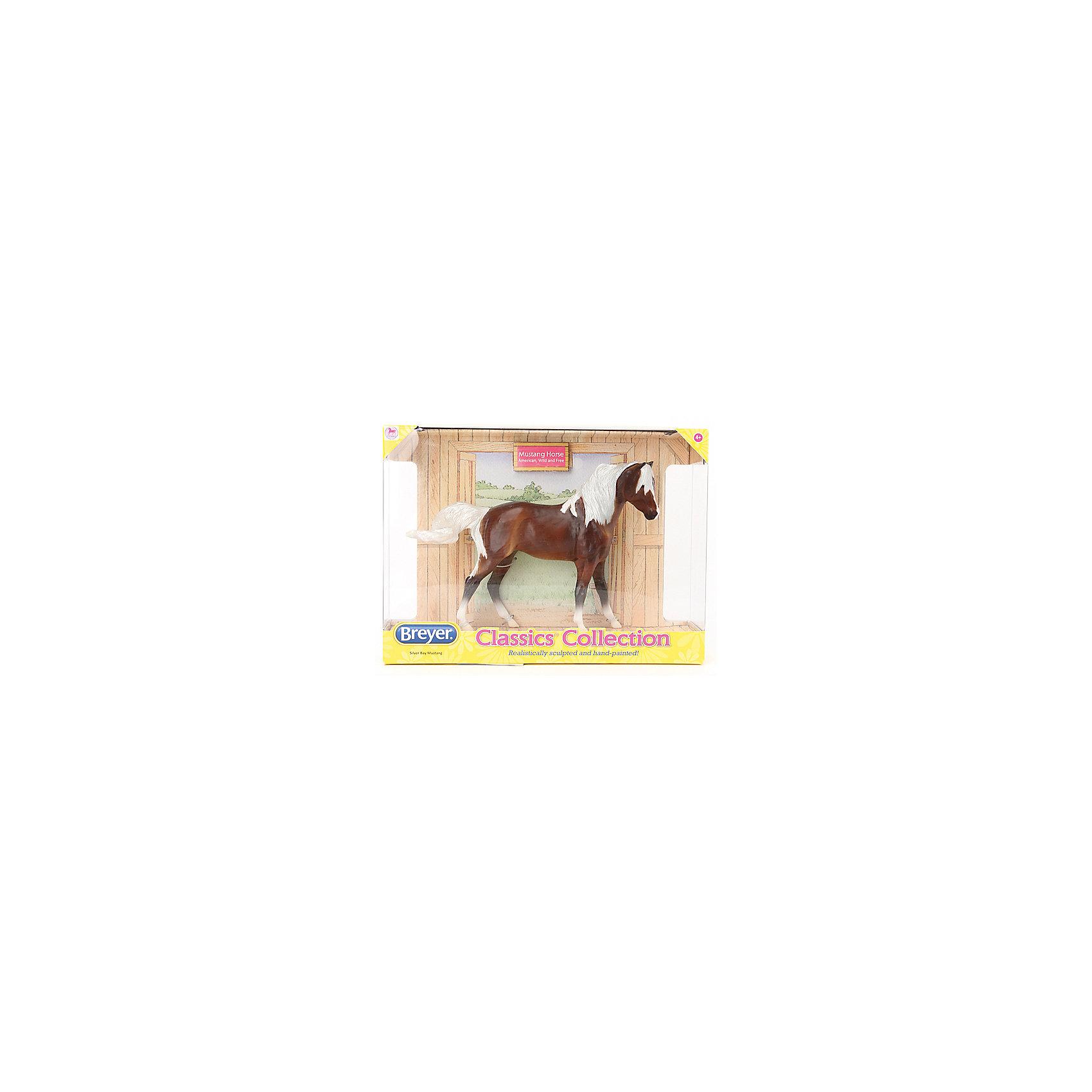 Лошадь Мустанг, серебристо-гнедой, BreyerВаш ребенок всерьез мечтает о собственной лошадке, но, конечно, в домашних условиях его мечта останется только мечтой? Модель лошади Мустанг серебристо-гнедой обязательно понравится детям и познакомит их с замечательными дикими лошадьми- мустангами, все еще живущими на территории Америки. Мустанг- это даже не порода, а тип. Их предками были лошади, завезенные в Новый Свет первыми переселенцами, и по каким-то причинам оставшиеся без опеки человека (война, отбились от табуна, потерялись и т.д.).  Мустанги могут очень сильно различаться между собой по внешнему виду, потому что их предки были разных пород. Так что среди них можно легко встретить как маленькую лохматую лошадку с толстыми боками, так и высокого длинноногого красавца. Ребенку понравится играть с такой лошадкой, она прекрасно детализирована, выполнена в масштабе 1:12 и очень реалистично раскрашена. Игрушка изготовлена из высококачественных безопасных для детей материалов. Собери всю коллекцию лошадок, ухаживай за ними, устраивай скачки и показательные выступления.<br><br>Дополнительная информация:<br><br>- Материал: пластик.<br>- Размер: 23х15 см.<br>- Масштаб: 1:12<br><br>Лошадь Мустанг, серебристо-гнедой, Breyer можно купить в нашем магазине.<br><br>Ширина мм: 279<br>Глубина мм: 67<br>Высота мм: 203<br>Вес г: 277<br>Возраст от месяцев: 48<br>Возраст до месяцев: 180<br>Пол: Унисекс<br>Возраст: Детский<br>SKU: 4046565