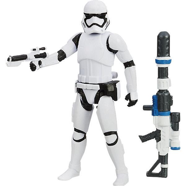 Звездные войны Эпизод 7 фигурка штурмовика  9,5 смКоллекционные фигурки<br>Фигурка штурмовика, Звездные войны (Star Wars). Эпизод 7, станет приятным сюрпризом для Вашего ребенка, особенно если он является поклонником популярной фантастической киносаги Star Wars. Фигурка выполнена с высокой степенью детализации и реалистичности и очень похожа на своего экранного прототипа. Вооруженные мощным оружием и блестящей броней, Штурмовики - основа могущества Первого Порядка. У фигурки подвижные части тела, что позволяет придать ей разные позы. В комплект также входит оружие штурмовика - бластер и деталь уникального оружия, которое может получиться, если объединить ее с деталями из комплектов с Рэем (Баз Старкиллер) и Дартом Вейдером (продаются отдельно). Для всех поклонников Звездных войн фигурки данной серии составят замечательную коллекцию и дополнят игры новыми персонажами.<br><br>Дополнительная информация:<br><br>- В комплекте: фигурка, 2 оружия.<br>- Материал: пластик.<br>- Высота фигурки: 9,5 см.<br>- Размер упаковки: 21 х 3,7 х 14 см.<br>- Вес: 0,12 кг. <br><br>Фигурку штурмовика, Звездные войны (Star Wars) Эпизод 7, Hasbro, можно купить в нашем интернет-магазине.<br><br>Ширина мм: 212<br>Глубина мм: 142<br>Высота мм: 32<br>Вес г: 68<br>Возраст от месяцев: 48<br>Возраст до месяцев: 96<br>Пол: Мужской<br>Возраст: Детский<br>SKU: 4046733