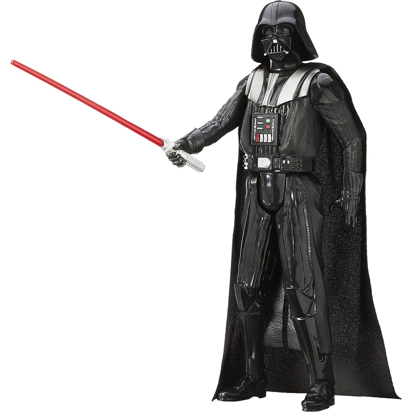 Титаны: Дарт Вейдер,  Звездные войныФигурка Титаны: Дарт Вейдер, Звездные войны (Star Wars), станет приятным сюрпризом для Вашего ребенка, особенно если он является поклонником популярной фантастической киносаги Star Wars. В комплект входит большая фигурка Дарта Вейдера, главного злодея вселенной Звездных войн. Фигурка выполнена с высокой степенью детализации и реалистичности и очень похожа на своего экранного персонажа. Вейдер одет в свой узнаваемый костюм с длинным плащом и шлем. У фигурки подвижные части тела, что позволяет придать ей разные позы. В комплект также входит оружие Дарта Вейдера - световой меч. Для всех поклонников Звездных войн фигурки данной серии составят замечательную коллекцию и дополнят игры новыми персонажами.<br><br>Дополнительная информация:<br><br>- В комплекте: 1 фигурка, 1 оружие.<br>- Материал: пластик.<br>- Высота фигурки: 30 см.<br>- Размер упаковки: 30,5 х 5 х 10 см.<br>- Вес: 0,3 кг. <br><br>Фигурку Титаны: Дарт Вейдер, Звездные войны (Star Wars), Hasbro, можно купить в нашем интернет-магазине.<br><br>Ширина мм: 309<br>Глубина мм: 106<br>Высота мм: 55<br>Вес г: 279<br>Возраст от месяцев: 48<br>Возраст до месяцев: 96<br>Пол: Мужской<br>Возраст: Детский<br>SKU: 4046739