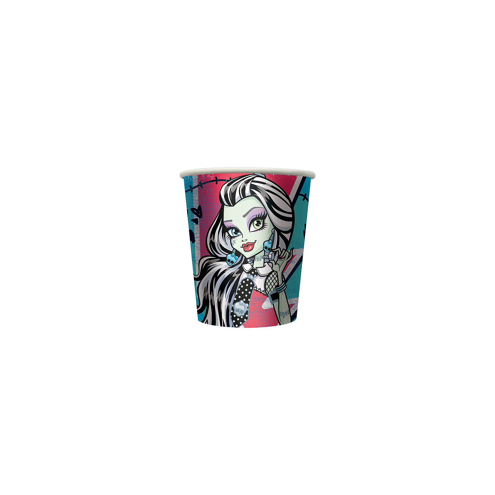 Стакан бумажный Monster High (10 шт)Набор бумажных стаканов Monster High замечательно подойдет для детского праздника и сделает его ярче и веселее. Комплект включает в себя 10 красочных стаканов, которые выполнены по мотивам популярного мультсериала Школа монстров (Monster High) и украшены изображениями его героинь. Благодаря специальному покрытию стаканы отлично удерживают напитки, не промокают, не протекают и надолго сохраняют опрятный внешний вид. <br><br>Дополнительная информация:<br><br>- В комплекте: 10 стаканов.<br>- Материал: картон.<br>- Объем стакана: 210 мл.<br>- Размер упаковки: 7,2 х 7,2 х 12 см.<br>- Вес: 56 гр.<br><br>Стакан бумажный Monster High, 10 шт., можно купить в нашем интернет-магазине.<br><br>Ширина мм: 72<br>Глубина мм: 72<br>Высота мм: 120<br>Вес г: 560<br>Возраст от месяцев: 36<br>Возраст до месяцев: 108<br>Пол: Женский<br>Возраст: Детский<br>SKU: 4046803