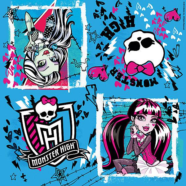 Салфетки Monster High 33*33 см (20 шт)Monster High<br>Салфетки Monster High отлично украсят праздничный стол Вашего ребенка и создадут настроение сказки и волшебства. Комплект включает в себя 20 красочных двухслойных салфеток, которые выполнены по мотивам популярного мультсериала Школа монстров и украшены изображениями его героинь и эмблемами необычной школы.<br><br>Дополнительная информация:<br><br>- В комплекте: 20 штук.<br>- Размер салфетки: 33 х 33 см.<br>- Размер упаковки: 16,5 х 16,5 х 1,5 см.<br>- Вес: 85 гр.<br><br>Салфетки Monster High (Монстр Хай), 20 шт., можно купить в нашем интернет-магазине.<br>Ширина мм: 165; Глубина мм: 165; Высота мм: 15; Вес г: 85; Возраст от месяцев: 36; Возраст до месяцев: 108; Пол: Женский; Возраст: Детский; SKU: 4046811;