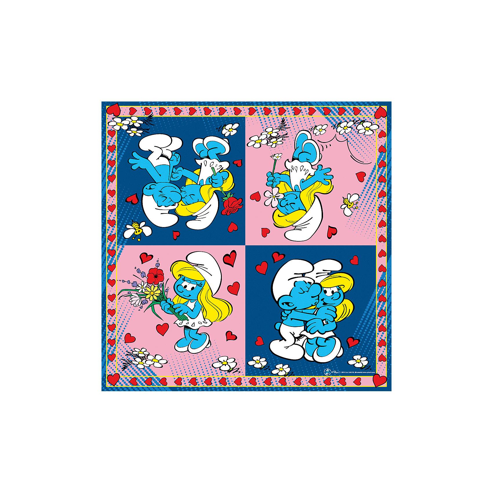 Салфетки Смурфики 33*33 см (20 шт)Красиво украсить праздничный стол на детском празднике Вам помогут посуда и аксессуары в стиле любимых детских персонажей. Нарядные салфетки Смурфики выполнены по мотивам одноименного популярного мультсериала и украшены изображениями забавных веселых смурфиков. Этот симпатичный аксессуар поможет сделать детский праздник ярким и запоминающимся. Комплект включает в себя 20 красочных двухслойных салфеток.<br><br>Дополнительная информация:<br><br>- В комплекте: 20 штук.<br>- Размер салфетки: 33 х 33 см.<br>- Размер упаковки: 16,5 х 16,5 х 1,5 см.<br>- Вес: 85 гр.<br><br>Салфетки Смурфики, 20 шт., можно купить в нашем интернет-магазине.<br><br>Ширина мм: 165<br>Глубина мм: 165<br>Высота мм: 15<br>Вес г: 85<br>Возраст от месяцев: 36<br>Возраст до месяцев: 108<br>Пол: Унисекс<br>Возраст: Детский<br>SKU: 4046814