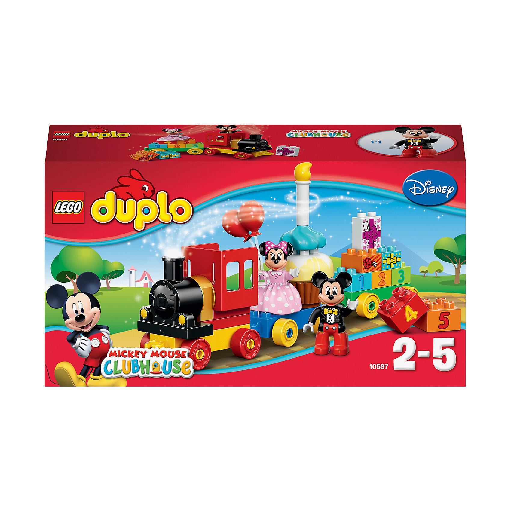 лего дупло гусеница LEGO LEGO DUPLO 10597: День рождения с Микки и Минни