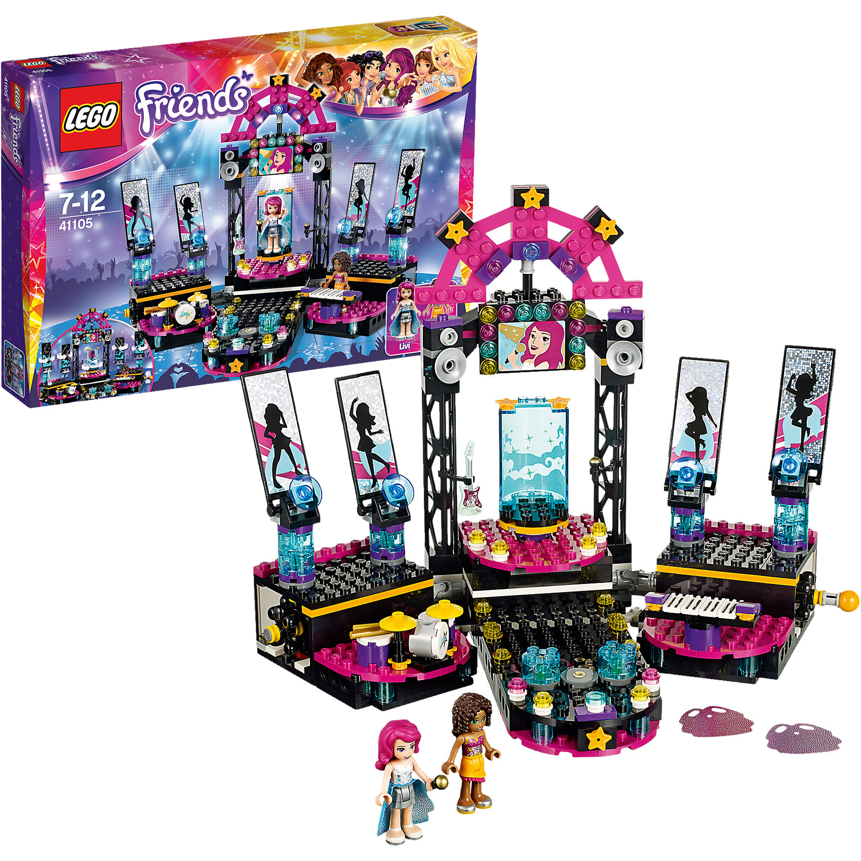 LEGO LEGO Friends 41105: Поп звезда: сцена конструктор lego friends 41334 сцена андреа в парке