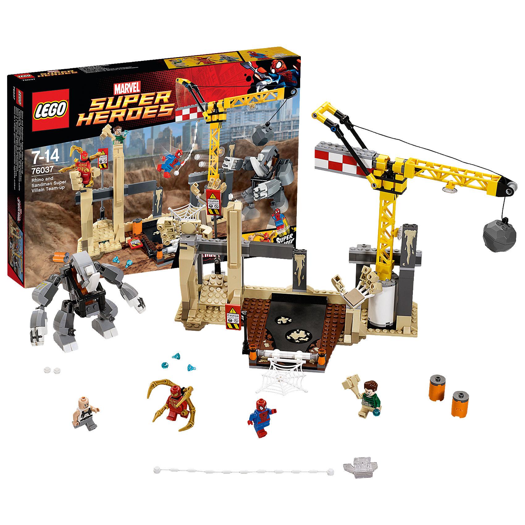 LEGO LEGO Super Heroes 76037: Носорог и Песочный человек против Супергероев lego super heroes 76058 лего супер герои человек паук союз с призрачным гонщиком