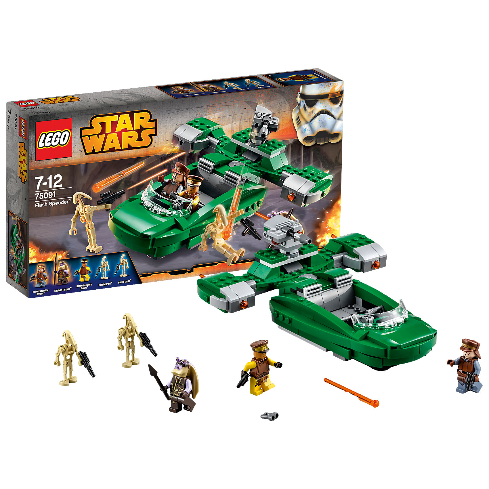 LEGO LEGO Star Wars 75091: Флэш-спидер™ (Flash Speeder™) футболка wearcraft premium slim fit printio star wars akira ray s speeder спидер рэй