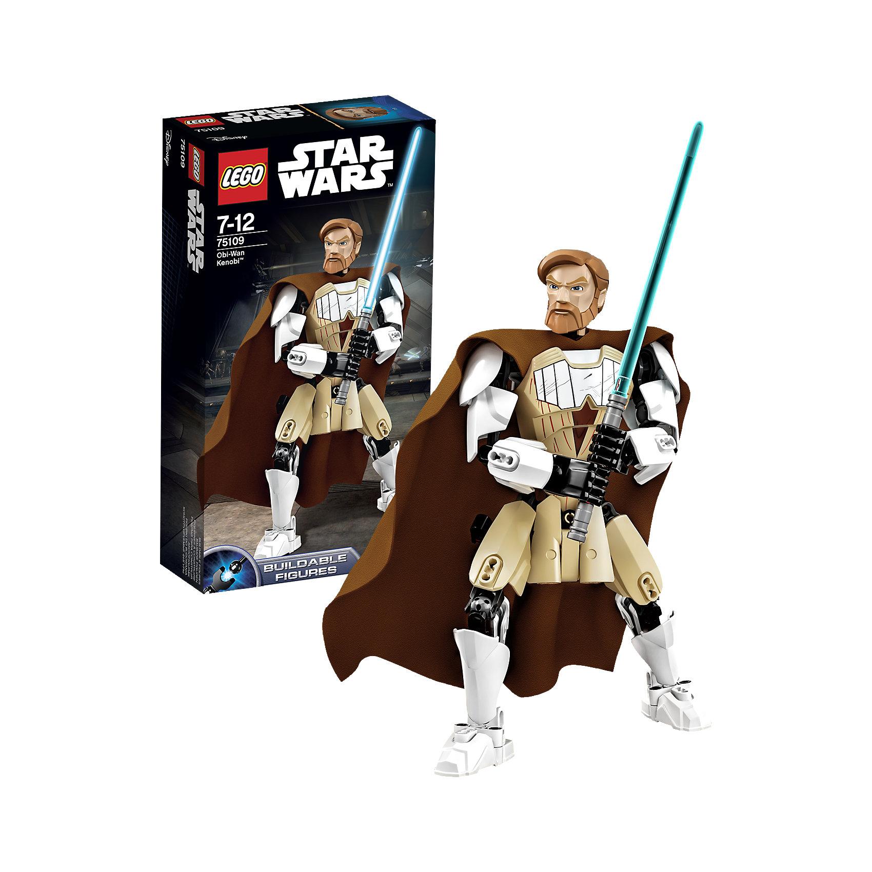 LEGO Star Wars 75109: Оби-Ван КенобиКонструктор LEGO Star Wars (ЛЕГО Звездные войны) 75109: Constraction 3 - это набор с помощью которого Вы с легкостью соберете подвижную фигурку Оби-Ван Кеноби. Он был мудрым джедаем, который всегда сохранял хладнокровие и чувство юмора. Оби-Ван Кеноби был генералом и верно служил Республике. Именно он взялся обучать молодого Энакина Скайуокера. На нем характерный коричневый плащ, а в руках световой меч. Собери все фигурки и разыграй знаменитые сцены из саги или почувствуй себя сценаристом и создай собственную историю знаменитого эпизода! Подключайте фантазию и Вам никогда не будет скучно в компании LEGO (ЛЕГО)! <br><br>LEGO Star Wars (ЛЕГО Звездные войны) – это тематическая серия детских развивающих конструкторов по мотивам приключенческого мультфильма 2014 года «Звездные войны: Повстанцы». Ребенок сможет часами играть с конструктором, придумывая различные ситуации и истории из любимого мультфильма. В процессе игры с конструктором дети приобретают и постигают такие необходимые навыки как познание, творчество, воображение. Большое количество дополнительных элементов делает игровые сюжеты по-настоящему захватывающими и реалистичными. Все наборы ЛЕГО Звездные Войны соответствуют самым высоким европейским стандартам качества и абсолютно безопасны.<br><br>Дополнительная информация:<br><br>- Игра с конструктором  LEGO (ЛЕГО) развивает мелкую моторику ребенка, фантазию и воображение, учит его усидчивости и внимательности;<br>- Количество деталей: 83 шт;<br>- Подвижная фигурка с оружием;<br>- Серия: LEGO Star Wars (ЛЕГО Звездные войны);<br>- Материал: высококачественный пластик.<br><br>Конструктор LEGO Star Wars (ЛЕГО Звездные войны) 75109: Constraction 3 можно купить в нашем интернет-магазине.<br><br>Ширина мм: 264<br>Глубина мм: 144<br>Высота мм: 66<br>Вес г: 230<br>Возраст от месяцев: 84<br>Возраст до месяцев: 144<br>Пол: Мужской<br>Возраст: Детский<br>SKU: 4047418
