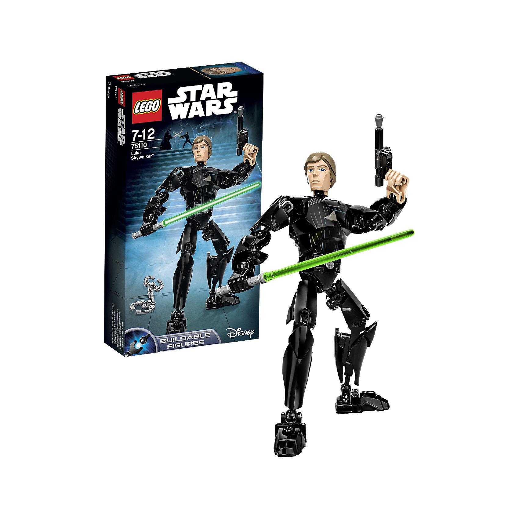 LEGO Star Wars 75110: Люк СкайуокерИгрушки<br>Конструктор LEGO Star Wars (ЛЕГО Звездные войны) 75110: Constraction 4 - это набор с помощью которого Вы с легкостью соберете подвижную фигурку Люка Скайуокера. Фигурка имеет не только игровую, но и коллекционную ценность. Люк Скайуокер один из центральных персонажей великой саги, без него невозможно представить развитие событий. Люк вырос в захолустье и даже не представлял, что он сын избранного Энакина Скайуокера, рожденный для великой миссии - привнести равновесие в Силу. Люк мастерски владеет световым мечом и бластером. Он уничтожил Звезду Смерти и стал прославленным героем Восстания. Собери все фигурки и разыграй знаменитые сцены из саги или почувствуй себя сценаристом и создай собственную историю знаменитого эпизода! Подключайте фантазию и Вам никогда не будет скучно в компании LEGO (ЛЕГО)! <br><br>LEGO Star Wars (ЛЕГО Звездные войны) – это тематическая серия детских развивающих конструкторов по мотивам приключенческого мультфильма 2014 года «Звездные войны: Повстанцы». Ребенок сможет часами играть с конструктором, придумывая различные ситуации и истории из любимого мультфильма. В процессе игры с конструктором дети приобретают и постигают такие необходимые навыки как познание, творчество, воображение. Большое количество дополнительных элементов делает игровые сюжеты по-настоящему захватывающими и реалистичными. Все наборы ЛЕГО Звездные Войны соответствуют самым высоким европейским стандартам качества и абсолютно безопасны.<br><br>Дополнительная информация:<br><br>- Игра с конструктором  LEGO (ЛЕГО) развивает мелкую моторику ребенка, фантазию и воображение, учит его усидчивости и внимательности;<br>- Подвижная фигурка с оружием;<br>- Серия: LEGO Star Wars (ЛЕГО Звездные войны);<br>- Материал: высококачественный пластик.<br><br>Конструктор LEGO Star Wars (ЛЕГО Звездные войны) 75110: Constraction 4 можно купить в нашем интернет-магазине.<br><br>Ширина мм: 262<br>Глубина мм: 141<br>Высота мм: 54<br>Вес г: 212<br>Возрас