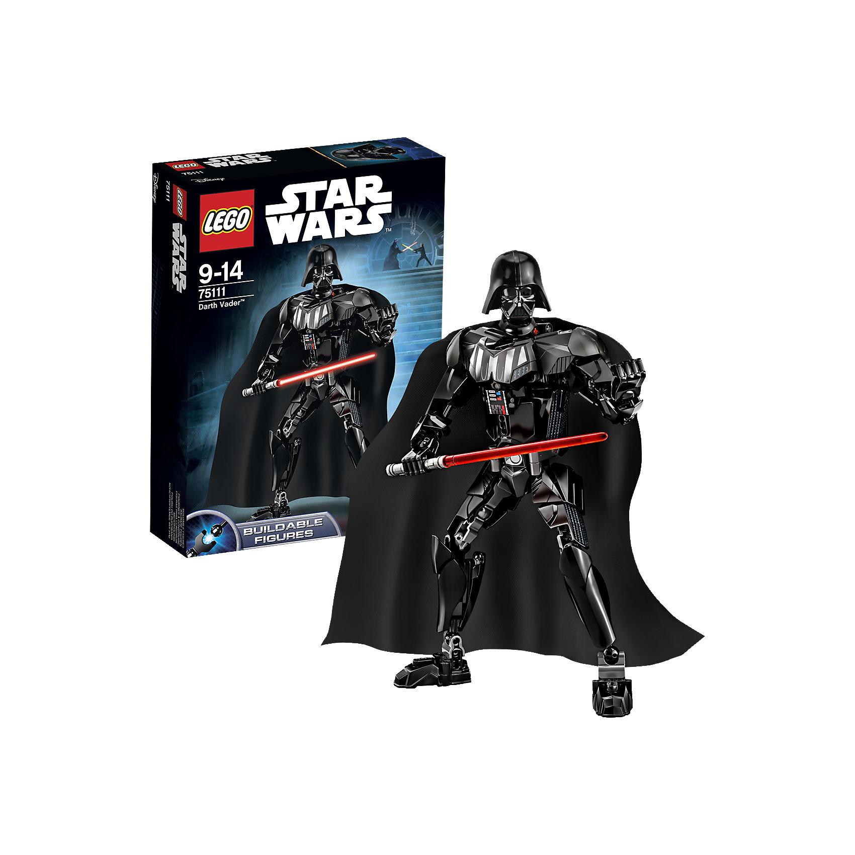 LEGO Star Wars 75111: Дарт ВейдерКонструктор LEGO Star Wars (ЛЕГО Звездные войны) 75111: Constraction 5 - это набор с помощью которого Вы с легкостью соберете подвижную фигурку Дарта Вейдера. Фигурка имеет не только игровую, но и коллекционную ценность. Дарт Вейдер один из центральных персонажей великой саги. Энакин Скайуокер перешел на сторону силы и принял имя Дарт Вейдер. Он был хитрым и расчетливым руководителем армии Галактической Империи. Он пытался предотвратить распад Империи и уничтожить Повстанческий альянс. Черный костюм Дарта Вейдера представляет из себя портативную систему жизнеобеспечения, которая необходима ему после ранений. Собери все фигурки и разыграй знаменитые сцены из саги или почувствуй себя сценаристом и создай собственную историю знаменитого эпизода! Подключайте фантазию и Вам никогда не будет скучно в компании LEGO (ЛЕГО)! <br><br>LEGO Star Wars (ЛЕГО Звездные войны) – это тематическая серия детских развивающих конструкторов по мотивам приключенческого мультфильма 2014 года «Звездные войны: Повстанцы». Ребенок сможет часами играть с конструктором, придумывая различные ситуации и истории из любимого мультфильма. В процессе игры с конструктором дети приобретают и постигают такие необходимые навыки как познание, творчество, воображение. Большое количество дополнительных элементов делает игровые сюжеты по-настоящему захватывающими и реалистичными. Все наборы ЛЕГО Звездные Войны соответствуют самым высоким европейским стандартам качества и абсолютно безопасны.<br><br>Дополнительная информация:<br><br>- Игра с конструктором  LEGO (ЛЕГО) развивает мелкую моторику ребенка, фантазию и воображение, учит его усидчивости и внимательности;<br>- Подвижная фигурка с оружием;<br>- Серия: LEGO Star Wars (ЛЕГО Звездные войны);<br>- Материал: высококачественный пластик.<br><br>Конструктор LEGO Star Wars (ЛЕГО Звездные войны) 75111: Constraction 5 можно купить в нашем интернет-магазине.<br><br>Ширина мм: 265<br>Глубина мм: 192<br>Высота мм: 66<br>Вес г: 320<br