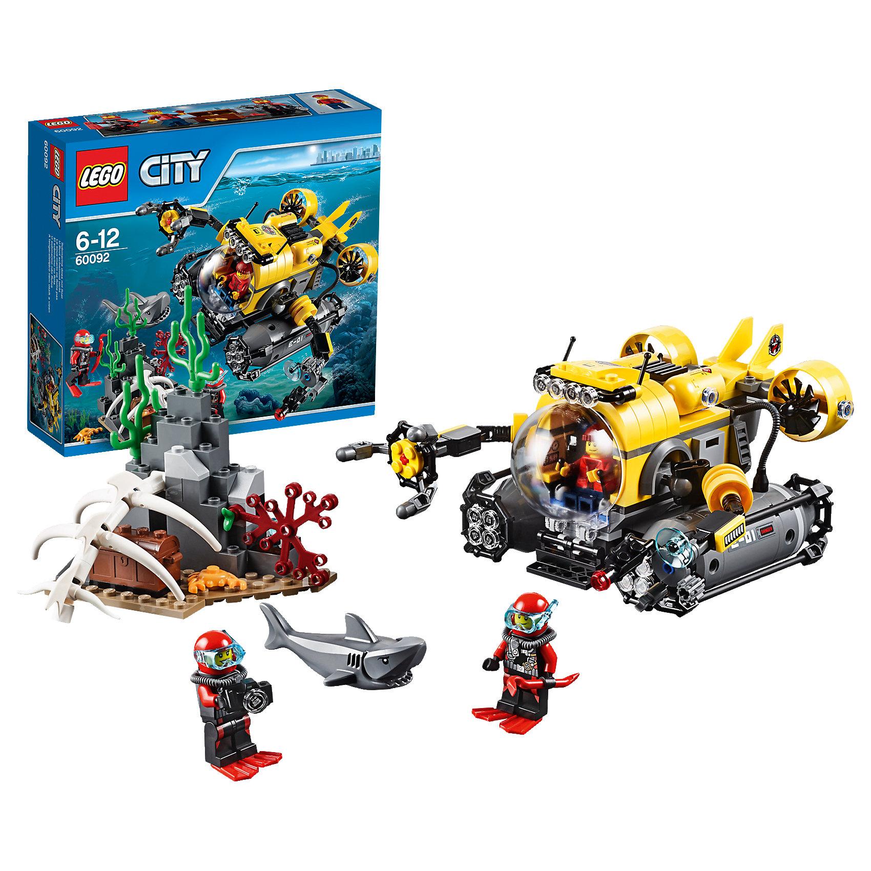 LEGO LEGO City 60092: Глубоководная подводная лодка lego city 60110 лего город пожарная часть