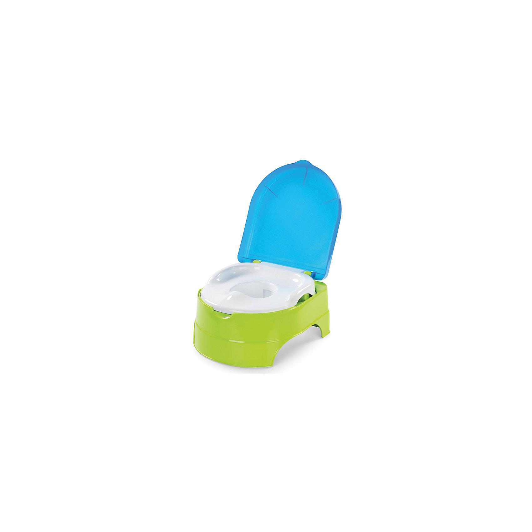 Горшок-подножка 2 в 1, Summer Infant, салатовый/голубой