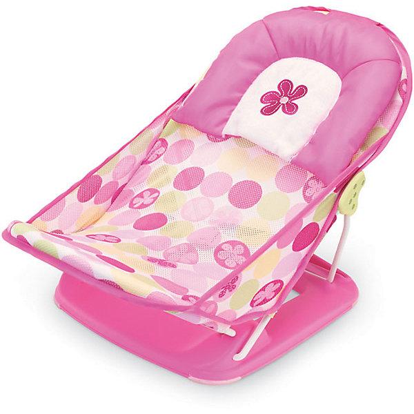 Лежак для купания Deluxe Baby Bather, Summer Infant, розовыйТовары для купания<br>Лежак для купания в ванну Deluxe Baby Bather имеет мягкий подголовник, обеспечивающий поддержку малышу во время купания. Спинка имеет два положения. Лежак можно установить как в ванне, так и в раковине. Он прост в применении и удобен для хранения. Изготовлен из высококачественных материалов безопасных для детей. <br><br>Дополнительная информация:<br><br>- Материал: пластик, текстиль.<br>- 2 положения наклона спинки.<br>- Возможность установки в ванне или раковине.<br>- Размер упаковки: 90х40х25 см.<br>- Максимальная нагрузка: 9 кг.<br>- Цвет: розовый.<br><br>Лежак  для купания Deluxe Baby Bather,  Summer Infant,  розовый, можно купить в нашем магазине.<br><br>Ширина мм: 900<br>Глубина мм: 400<br>Высота мм: 250<br>Вес г: 1300<br>Возраст от месяцев: 0<br>Возраст до месяцев: 3<br>Пол: Женский<br>Возраст: Детский<br>SKU: 4047533