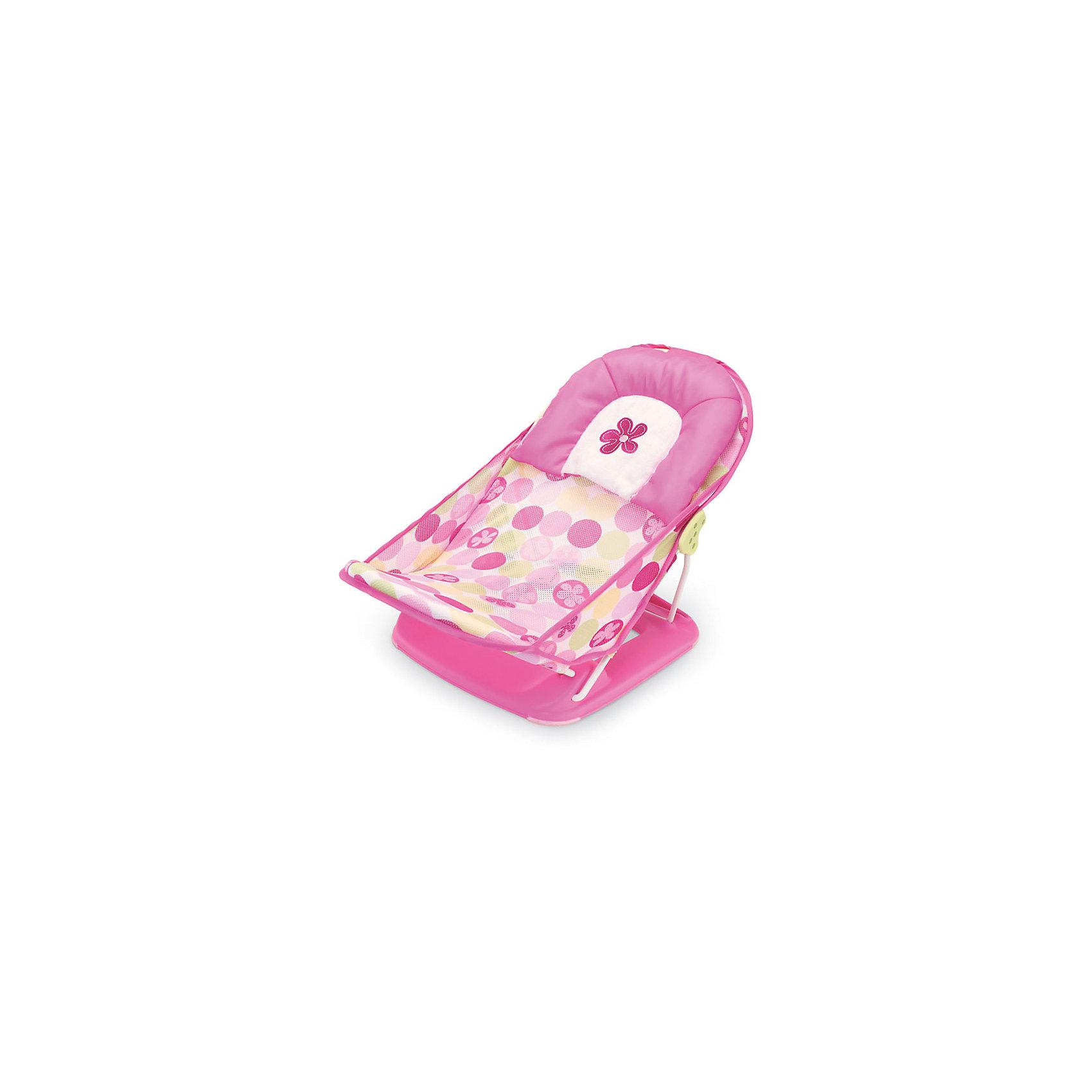 Лежак для купания Deluxe Baby Bather, Summer Infant, розовыйВанны, горки, сиденья<br>Лежак для купания в ванну Deluxe Baby Bather имеет мягкий подголовник, обеспечивающий поддержку малышу во время купания. Спинка имеет два положения. Лежак можно установить как в ванне, так и в раковине. Он прост в применении и удобен для хранения. Изготовлен из высококачественных материалов безопасных для детей. <br><br>Дополнительная информация:<br><br>- Материал: пластик, текстиль.<br>- 2 положения наклона спинки.<br>- Возможность установки в ванне или раковине.<br>- Размер упаковки: 90х40х25 см.<br>- Максимальная нагрузка: 9 кг.<br>- Цвет: розовый.<br><br>Лежак  для купания Deluxe Baby Bather,  Summer Infant,  розовый, можно купить в нашем магазине.<br><br>Ширина мм: 900<br>Глубина мм: 400<br>Высота мм: 250<br>Вес г: 1300<br>Возраст от месяцев: 0<br>Возраст до месяцев: 3<br>Пол: Женский<br>Возраст: Детский<br>SKU: 4047533