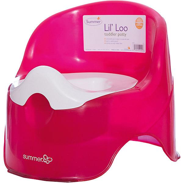 Детский горшок,  Summer Infant, малиновыйДетские горшки и писсуары<br>Идеальный горшок для того, чтобы приучить ребенка ходить в туалет. Одновременно стильный и удобный. Съемная вкладка позволяет легко очистить горшок, удобная высокая спинка обеспечивает комфорт, специальная конструкция защищает от разбрызгивания. Изготовлен из прочных высококачественных материалов безопасных для детей. <br><br>Дополнительная информация:<br><br>- Материал: пластик.<br>- Размер: 35,5х35,5х30,5 см.<br>- Цвет: малиновый.<br>- Съемная вкладка.<br>- Высокая спинка.<br>- Защита от разбрызгивания. <br><br>Детский горшок, Summer Infant, малиновый, можно купить в нашем магазине.<br><br>Ширина мм: 476<br>Глубина мм: 368<br>Высота мм: 360<br>Вес г: 980<br>Возраст от месяцев: 6<br>Возраст до месяцев: 60<br>Пол: Женский<br>Возраст: Детский<br>SKU: 4047535