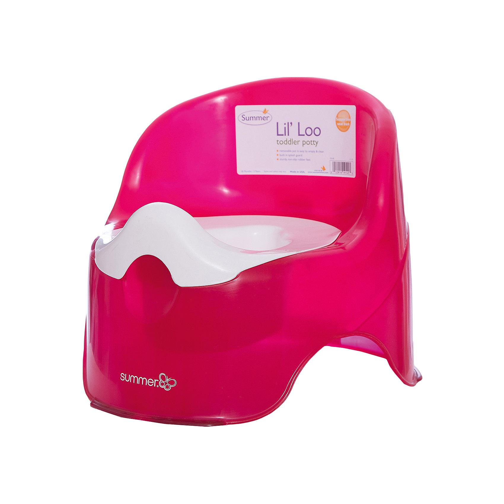 Детский горшок,  Summer Infant, малиновыйИдеальный горшок для того, чтобы приучить ребенка ходить в туалет. Одновременно стильный и удобный. Съемная вкладка позволяет легко очистить горшок, удобная высокая спинка обеспечивает комфорт, специальная конструкция защищает от разбрызгивания. Изготовлен из прочных высококачественных материалов безопасных для детей. <br><br>Дополнительная информация:<br><br>- Материал: пластик.<br>- Размер: 35,5х35,5х30,5 см.<br>- Цвет: малиновый.<br>- Съемная вкладка.<br>- Высокая спинка.<br>- Защита от разбрызгивания. <br><br>Детский горшок, Summer Infant, малиновый, можно купить в нашем магазине.<br><br>Ширина мм: 476<br>Глубина мм: 368<br>Высота мм: 360<br>Вес г: 980<br>Возраст от месяцев: 6<br>Возраст до месяцев: 60<br>Пол: Женский<br>Возраст: Детский<br>SKU: 4047535