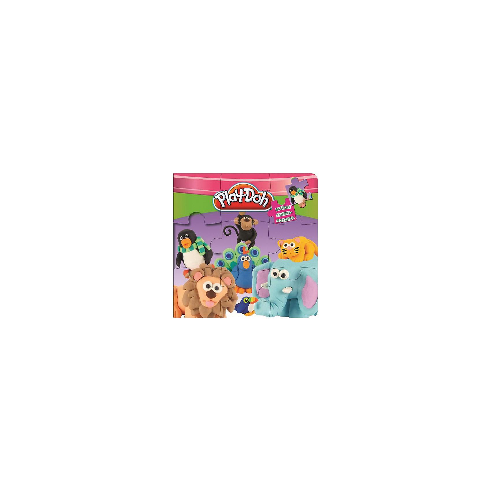 Книга-мозаика Play-DohКниги-пазлы<br>Эта удивительная книжка-мозаика расскажет тебе о веселых приключениях пластилиновых друзей. Читай сказку, рассматривай яркие красочные иллюстрации, разбирай и вновь складывай картинки в специальных окошках.<br><br>Дополнительная информация:<br><br>- Формат: 20,5х2,5см.<br>- Переплет: картон.<br>- Иллюстрации: цветные.<br>- Количество страниц: 10 стр.<br>- Редактор: Баталина В.<br>- Оформление, пазлы, вырубка. <br><br>Книгу-мозаику Play-Doh (Плей До) можно купить в нашем магазине.<br><br>Ширина мм: 205<br>Глубина мм: 225<br>Высота мм: 15<br>Вес г: 345<br>Возраст от месяцев: 48<br>Возраст до месяцев: 72<br>Пол: Унисекс<br>Возраст: Детский<br>SKU: 4047834