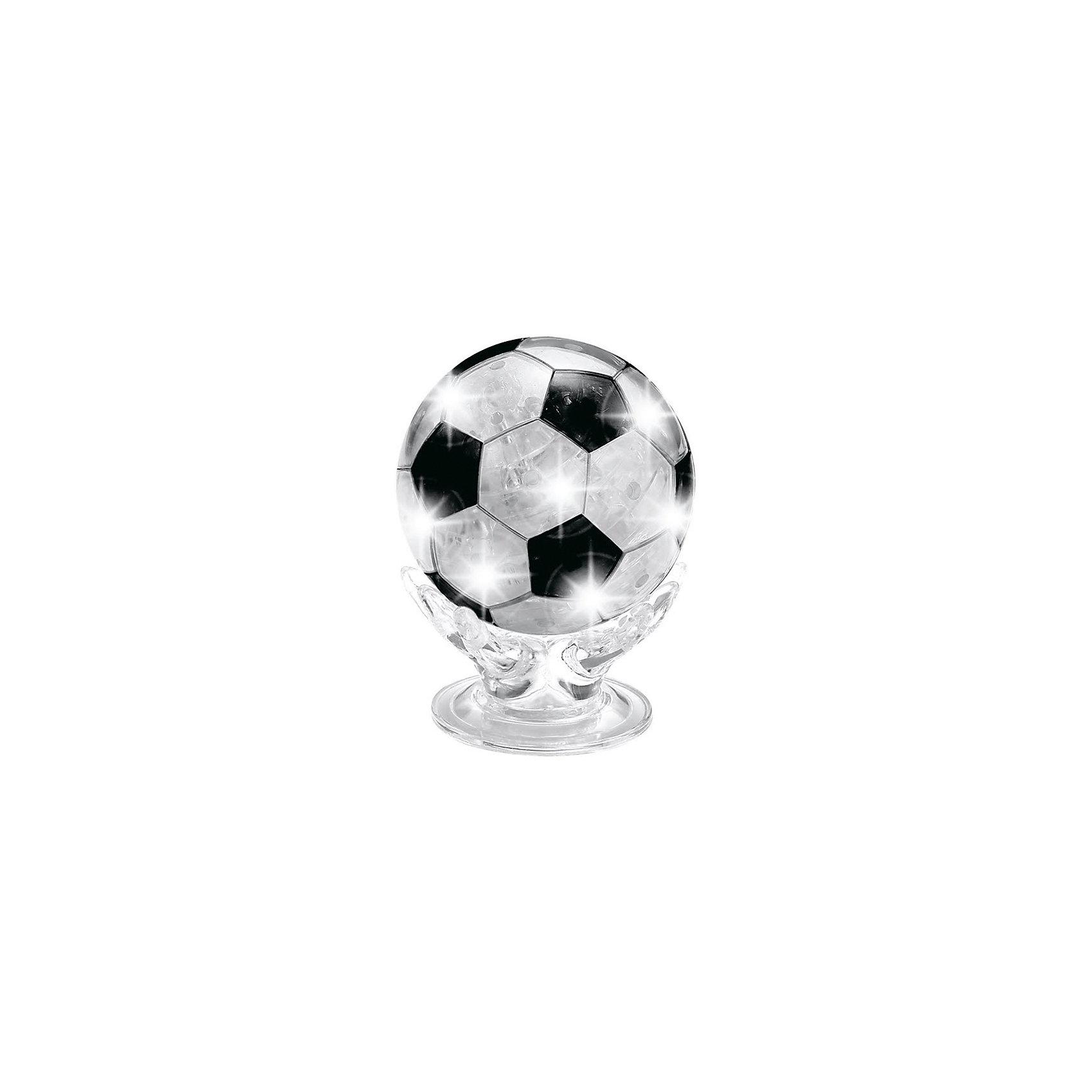Кристаллический пазл 3D Футбольный Мяч, CreativeStudio3D пазлы<br>Кристаллический пазл 3D Футбольный Мяч, CreativeStudio - уникальный набор для творчества, который будет интересен не только детям но и взрослым. С помощью входящих в набор трехмерных деталей из полупрозрачного пластика Вы сможете своими руками собрать необычный сувенир - модель настоящего футбольного мяча. Для ускорения процесса сборки можно воспользоваться инструкцией, где для каждой детали указан свой номер. В комплект также входит дополнительная подставка со светодиодом, которая превратит фигурку в оригинальный элегантный светильник. Сборка пазла развивает у ребенка логическое мышление, воображение, усидчивость и аккуратность, тренирует мелкую моторику рук.<br><br>Дополнительная информация:<br><br>- В комплекте: 77 деталей 3d, светодиодный блок, инструкция.<br>- Материал: пластик.<br>- Размер упаковки: 13,5 х 18 х 4 см.<br>- Вес: 137 гр.<br>- Цвет в ассортименте.<br><br>Кристаллический пазл 3D Футбольный Мяч, светильник L, CreativeStudio, можно купить в нашем интернет-магазине.<br><br>Ширина мм: 40<br>Глубина мм: 135<br>Высота мм: 180<br>Вес г: 137<br>Возраст от месяцев: 36<br>Возраст до месяцев: 216<br>Пол: Мужской<br>Возраст: Детский<br>Количество деталей: 77<br>SKU: 4047995