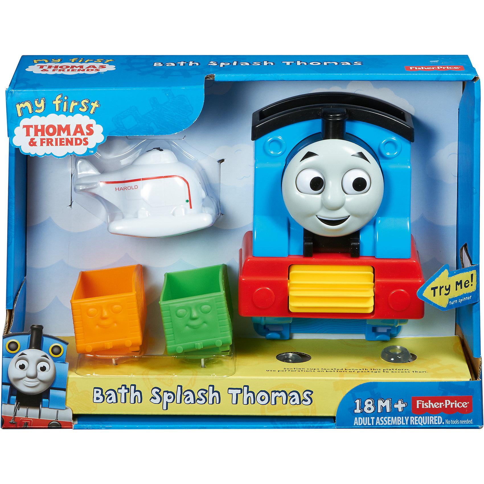 Игровой набор Веселое купание, Томас и его друзьяТомас и его друзья Игрушки<br>С игровым набором Веселое купание водные процедуры превратятся в настоящее приключение! Как только малыш польет воду на Томаса, его глаза начнут забавно вращаться. Малыш будет использовать вертолет Харольд и непослушные вагоны из мультфильма Томас и друзья для того, чтобы набирать воду и выливать в трубу Томаса. Благодаря специальным присоскам, набор прочно крепится к стене или другой поверхности. <br><br>Дополнительная информация:<br><br>- Материал: пластик.<br>- Размер игрушки: 18х7х12 см.<br>- Размер вагона: 7х4,5х5,5 см.<br>- Размер вертолета: 9 см.<br>- Комплектация: Томас, вертолет, вагоны (2 шт).<br><br>Игровой набор Веселое купание, Томас и его друзья, можно купить в нашем магазине.<br><br>Ширина мм: 308<br>Глубина мм: 233<br>Высота мм: 88<br>Вес г: 501<br>Возраст от месяцев: 18<br>Возраст до месяцев: 36<br>Пол: Мужской<br>Возраст: Детский<br>SKU: 4048183