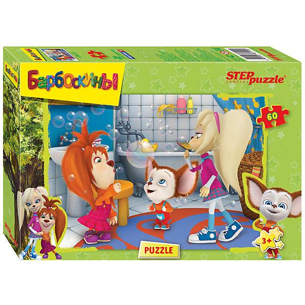 Пазл Барбоскины, 60 деталей, Step puzzleПазлы для малышей<br>Пазл Барбоскины,60 деталей, Step puzzle (Степ пазл) – это развивающая игра-головоломка для детей.<br>Дополнительная информация:<br><br>- Количество элементов: 60<br>- Размер готовой картинки: 33x23 см.<br>- Материалы: картон, бумага.<br>- Размер упаковки: 14х4х20 см.<br>- Вес: 300 гр.<br><br>Пазл Барбоскины, 60 деталей, Step puzzle (Степ пазл) можно купить в нашем интернет-магазине.<br>Ширина мм: 14; Глубина мм: 4; Высота мм: 20; Вес г: 300; Возраст от месяцев: 36; Возраст до месяцев: 72; Пол: Унисекс; Возраст: Детский; Количество деталей: 60; SKU: 4048192;