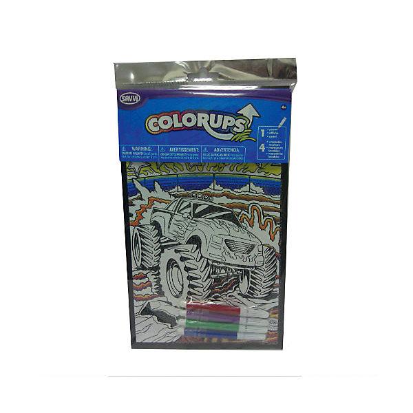 Раскраска ColorUps с фломастерами Машина, маленькая, SavviРаскраски для детей<br>Американский бренд Savvi более 25 лет специализируется на производстве детских татуировок. Этот бренд хорошо известен в США, его выбирают американские родители, выделяя среди других производителей. Только качественные рисунки, сертифицированные и безопасные красители.<br>Этот же принцип ложится в основу и другой продукции Savvi – замечательных раскрасок, которые доставят удовольствие юным художникам. Страницы раскраски имеют особую структуру, помогающую цвету лечь максимально ровно. <br>Посмотрите все раскраски Savvi: вы предпочитаете захватывающие сюжеты про пиратские сокровища или милых щенков, фантазийных существ, динозавров, бродивших по земле миллионы лет назад или далеко будущее?<br>В комплекте с раскраской вы найдете два специальных нетоксичных маркера Savvi. <br><br>Дополнительная информация:<br><br>Размеры раскраски: 28х18х0,5 см.<br><br>Раскраску ColorUps с фломастерами Машина, маленькую, Savvi можно купить в нашем магазине.<br>Ширина мм: 280; Глубина мм: 180; Высота мм: 10; Вес г: 32; Возраст от месяцев: 36; Возраст до месяцев: 144; Пол: Мужской; Возраст: Детский; SKU: 4048941;