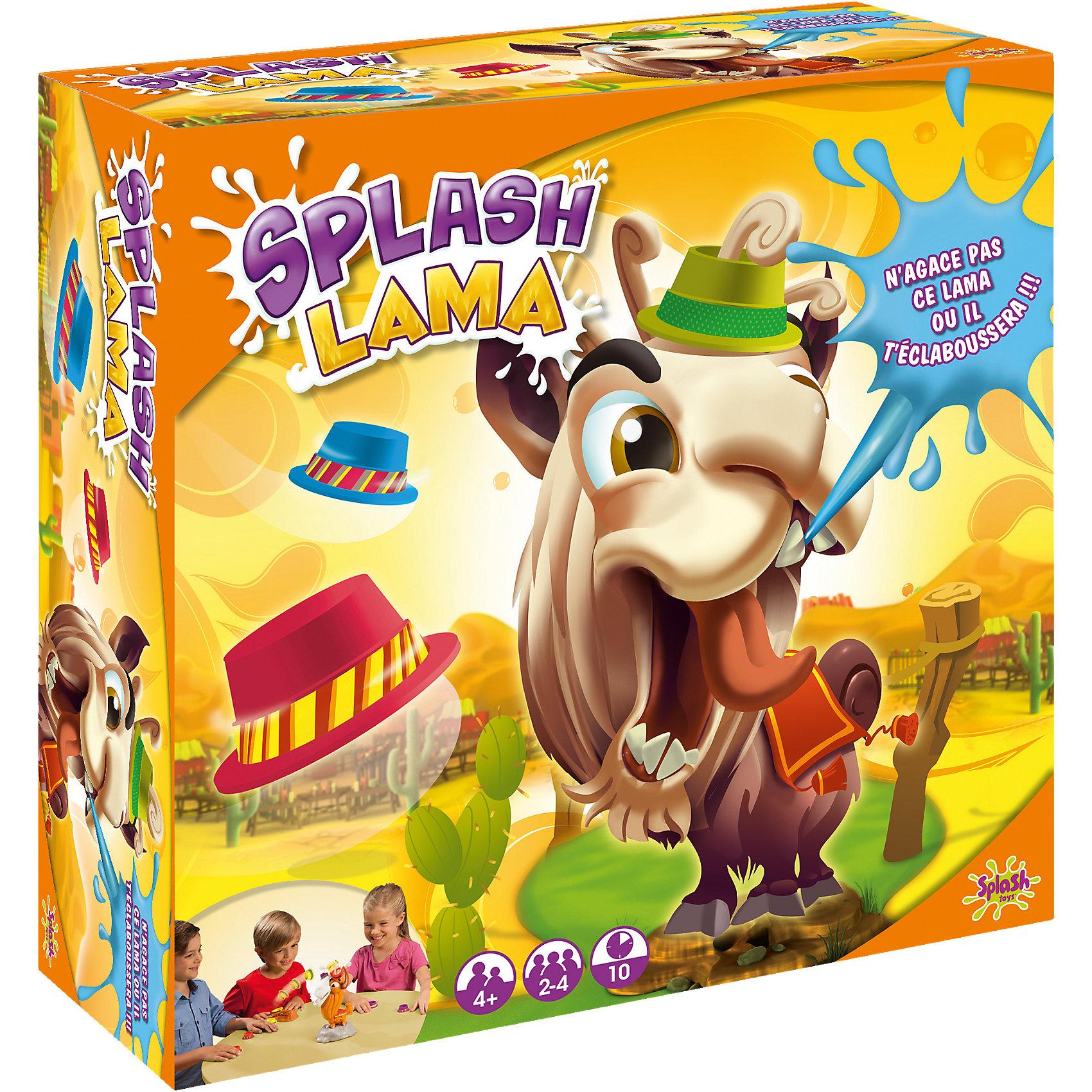 Игра Хитрая Лама, Splash ToysХитрая Лама любит шляпы, скорее кидай их ей голову, но будь осторожен: если ты попадешь в нос или ухо, лама обидится и обольет тебя водой! Все детали выполнены из высококачественного гипоаллергенного пластика. Веселая игра надолго увлечет ребенка и поможет развить ему внимание, скорость реакции и меткость. <br><br>Дополнительная информация:<br><br>- Материал: пластик.<br>- Размер: 27х12х27 см.<br>- Комплектация: 1 электронная лама, 12 шляп : 3 красных, 3 жёлтых, 3 зелёных и 3 фиолетовых, 1 катапульта, 1 лист с наклейками, 1 воронка.<br>- Элемент питания: 3 AAA батарейки (не входят в комплект).<br><br>Игру Хитрая Лама, Splash Toys, можно купить в нашем магазине.<br><br>Ширина мм: 279<br>Глубина мм: 279<br>Высота мм: 126<br>Вес г: 609<br>Возраст от месяцев: 48<br>Возраст до месяцев: 84<br>Пол: Унисекс<br>Возраст: Детский<br>SKU: 4050205