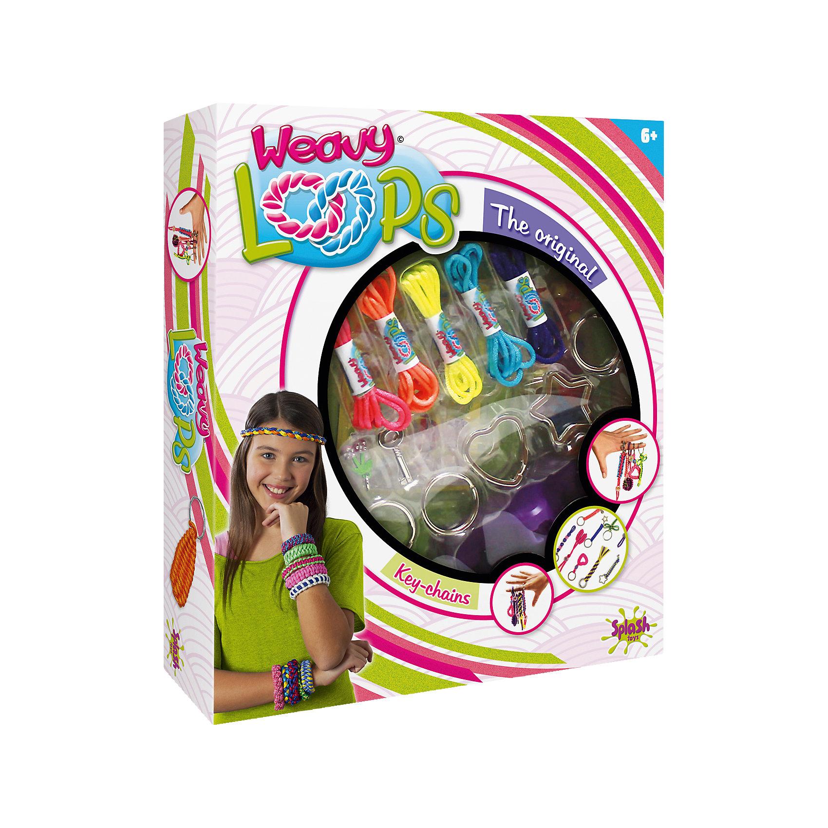 Набор для создания брелков, Weavy LoopsРукоделие<br>Набор для создания брелков, Weavy Loops - увлекательный набор для творчества, который позволит юной рукодельнице создавать стильные модные украшения для себя и своих друзей. В комплекте Вы найдете все необходимые для изготовления ярких и оригинальных брелков:<br>цветные шнурки разных цветов, клипсы, цветные колечки, инструмент для плетения браслетов и другие аксессуары. Несложная, доступная даже новичкам техника плетения позволят Вам быстро освоить новый вид творчества и порадоваться первым успехам. Комплект оформлен в<br>яркую подарочную коробочку. Развивает творческие и художественные способности, фантазию, усидчивость, мелкую моторику.<br><br> Дополнительная информация:<br><br>- В комплекте: 1 инструмент для плетения брелков, 5 цветных шнурков, 5 петель, 12 клипс, цветные колечки, аксессуары.<br>- Материал: пластик, текстиль.<br>- Размер упаковки: 25,9 x 21,9 x 5,1 см. <br>- Вес: 0,242 кг.<br><br>Набор для плетения брелков, Weavy Loops, можно купить в нашем интернет-магазине.<br><br>Ширина мм: 265<br>Глубина мм: 220<br>Высота мм: 60<br>Вес г: 241<br>Возраст от месяцев: 72<br>Возраст до месяцев: 144<br>Пол: Женский<br>Возраст: Детский<br>SKU: 4050213