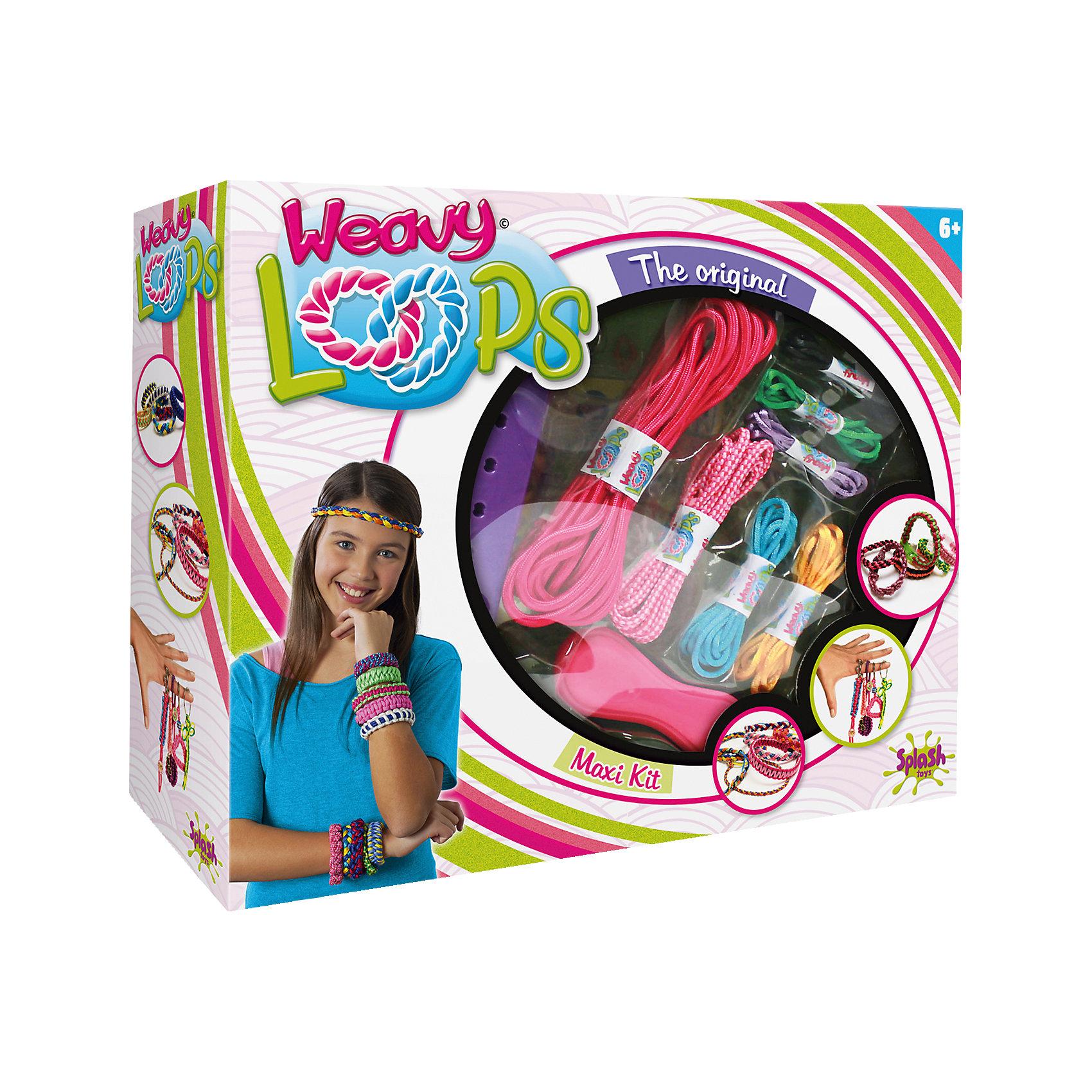 Набор для создания украшений 4 в 1, Weavy LoopsРукоделие<br>Большой набор для создания украшений 4 в 1, Weavy Loops - увлекательный набор для творчества, который надолго увлечет Вашу девочку и не даст ей скучать. Браслеты, обручи, брелки, цветные шнурки для украшения различных аксессуаров - можно сплести все, что подскажет фантазия. В комплекте Вы найдете все необходимые для изготовления ярких и стильных украшений: инструмент для плетения, цветные шнурки разных цветов, клипсы, цветные колечки, петли и другие аксессуары. Несложная, доступная даже новичкам техника плетения позволит Вам быстро освоить новый вид творчества и порадоваться первым успехам. Оригинальные украшения помогут создать свой неповторимый стиль или станут прекрасным подарком, сделанным своими руками. Комплект оформлен в яркую подарочную коробочку. Развивает творческие и художественные способности, фантазию, усидчивость, мелкую моторику.<br><br> Дополнительная информация:<br><br>- В комплекте: инструмент для плетения, цветные шнурки, петли, застежки, клипсы, цветные колечки, наклейки для украшения, другие аксессуары.<br>- Материал: пластик, текстиль, металл.<br>- Размер упаковки: 26,1 x 31,9 x 8,3 см. <br>- Вес: 0,598 кг.<br><br>Набор для создания украшений 4 в 1, Weavy Loops, можно купить в нашем интернет-магазине.<br><br>Ширина мм: 330<br>Глубина мм: 259<br>Высота мм: 88<br>Вес г: 591<br>Возраст от месяцев: 72<br>Возраст до месяцев: 144<br>Пол: Женский<br>Возраст: Детский<br>SKU: 4050216