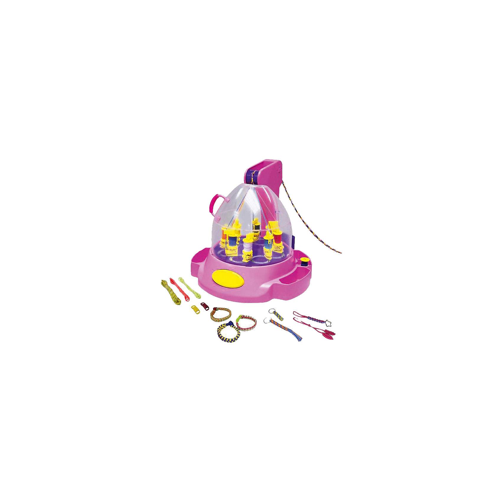 Машинка для плетения украшений, Weavy LoopsРукоделие<br>Машинка для плетения украшений, Weavy Loops - увлекательный набор для творчества, который станет прекрасным подарком для юной любительницы рукоделия. Чудо-машинка будет помогать ей во всех ее творческих экспериментах, позволяя каждый день обновлять коллекцию<br>модных украшений. Оригинальные разноцветные шнурки, которые плетет машинка, послужат основой для создания разнообразных браслетов, украшений и стильных аксессуаров. Машинка безопасна для детей и проста в использовании: достаточно поставить катушки с нитками в базу, накрыть прозрачной крышкой и, нажав на рычаг, получить сплетенные нитки. В комплект также входят мотки разноцветных ниток, кольца, зажимы и катушки. Необычные украшения помогут создать свой неповторимый стиль или станут прекрасным подарком, сделанным своими руками. Комплект оформлен в яркую подарочную коробочку. Развивает творческие и художественные способности, фантазию, усидчивость, мелкую моторику. <br><br> Дополнительная информация:<br><br>- В комплекте: машинка для плетения, 2 кольца, 3 зажима, 24 мотка ниток разных цветов, катушки различной формы, инструкция.<br>- Материал: пластик, текстиль, металл.<br>- Требуются батарейки: 3 х АА / LR6 1.5V (пальчиковые) (не входят в комплект).<br>- Размер упаковки: 15 x 25 x 20 см. <br>- Вес: 0,73 кг.<br><br>Машинку для плетения украшений, Weavy Loops, можно купить в нашем интернет-магазине.<br><br>Ширина мм: 267<br>Глубина мм: 246<br>Высота мм: 246<br>Вес г: 1011<br>Возраст от месяцев: 72<br>Возраст до месяцев: 144<br>Пол: Женский<br>Возраст: Детский<br>SKU: 4050217