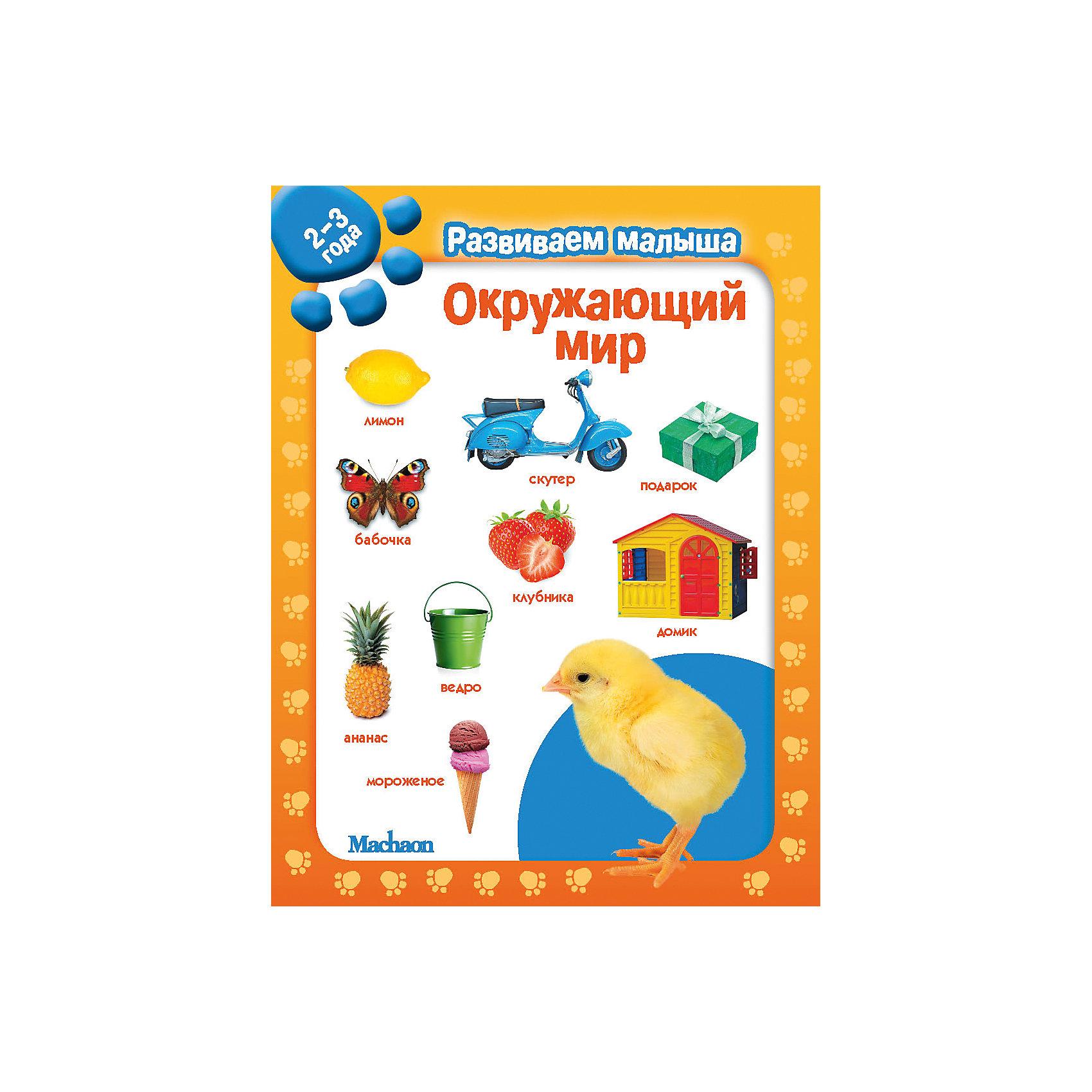 Развивающая книга Окружающий мир. Развиваем малыша (2-3 года)Расширяем кругозор и словарный запас!<br>В этой книге вы найдёте задания, которые помогут ребёнку овладеть навыками общения.<br>Расскажите малышу ещё что-нибудь о предметах, изображённых на картинках. Постарайтесь использовать при этом самые простые слова. Малыш с удовольствием будет выполнять все упражнения, ведь каждая книга этой серии – для него настоящее открытие!<br><br>Дополнительная информация:<br><br>Серия: Развиваем малыша (картон с вырубкой)<br><br>Формат: 145х190 мм .<br>Переплет: обложка<br>Объем: 20 стр.<br><br>Развивающая книга Окружающий мир. Развиваем малыша (2-3 года) можно купить в нашем магазине.<br><br>Ширина мм: 190<br>Глубина мм: 145<br>Высота мм: 10<br>Вес г: 241<br>Возраст от месяцев: 12<br>Возраст до месяцев: 36<br>Пол: Унисекс<br>Возраст: Детский<br>SKU: 4050421