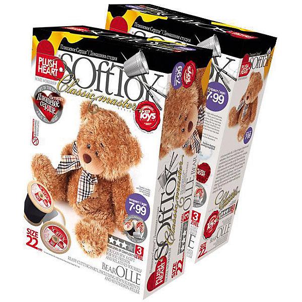 Набор Медведь Олле, Plush HeartШитьё<br>С помощью Набора Медведь Олле, Plush Heart (Плюшевое сердце) Ваш ребенок сможет сшить великолепную мягкую игрушку медвежонка Олле . В комплект набора, кроме необходимых аксессуаров, чертежей выкройки и заготовок, входит маленькое плюшевое сердечко, которое вкладывается внутрь мягкой игрушки, что делает ее почти живой. Уровень сложности 3 из 4.<br><br>Комплектация: пошитая голова игрушки, детали туловища, синтепоновая набивка, мешочек с полимерными гранулами, нитки, плюшевое сердце<br><br>Дополнительная информация:<br>-Вес в упаковке: 310 г <br>-Размеры в упаковке: 280х190х90 мм<br>-Материалы: синтепон, полимерные гранулы, плюш, текстиль<br>-Размер готовой игрушки: 220 мм<br><br>Приложив немного терпения, фантазии и сердца, Ваш ребенок создаст чудесную мягкую игрушку, которая будет только его, со своим неповторимым характером, поскольку игрушки ручной работы никогда не бывают одинаковыми, даже если сшиты по одному лекалу из одинаковых материалов!<br><br>Набор Медведь Олле, Plush Heart (Плюшевое сердце) можно купить в нашем магазине.<br>Ширина мм: 280; Глубина мм: 190; Высота мм: 90; Вес г: 310; Возраст от месяцев: 84; Возраст до месяцев: 144; Пол: Женский; Возраст: Детский; SKU: 4051625;