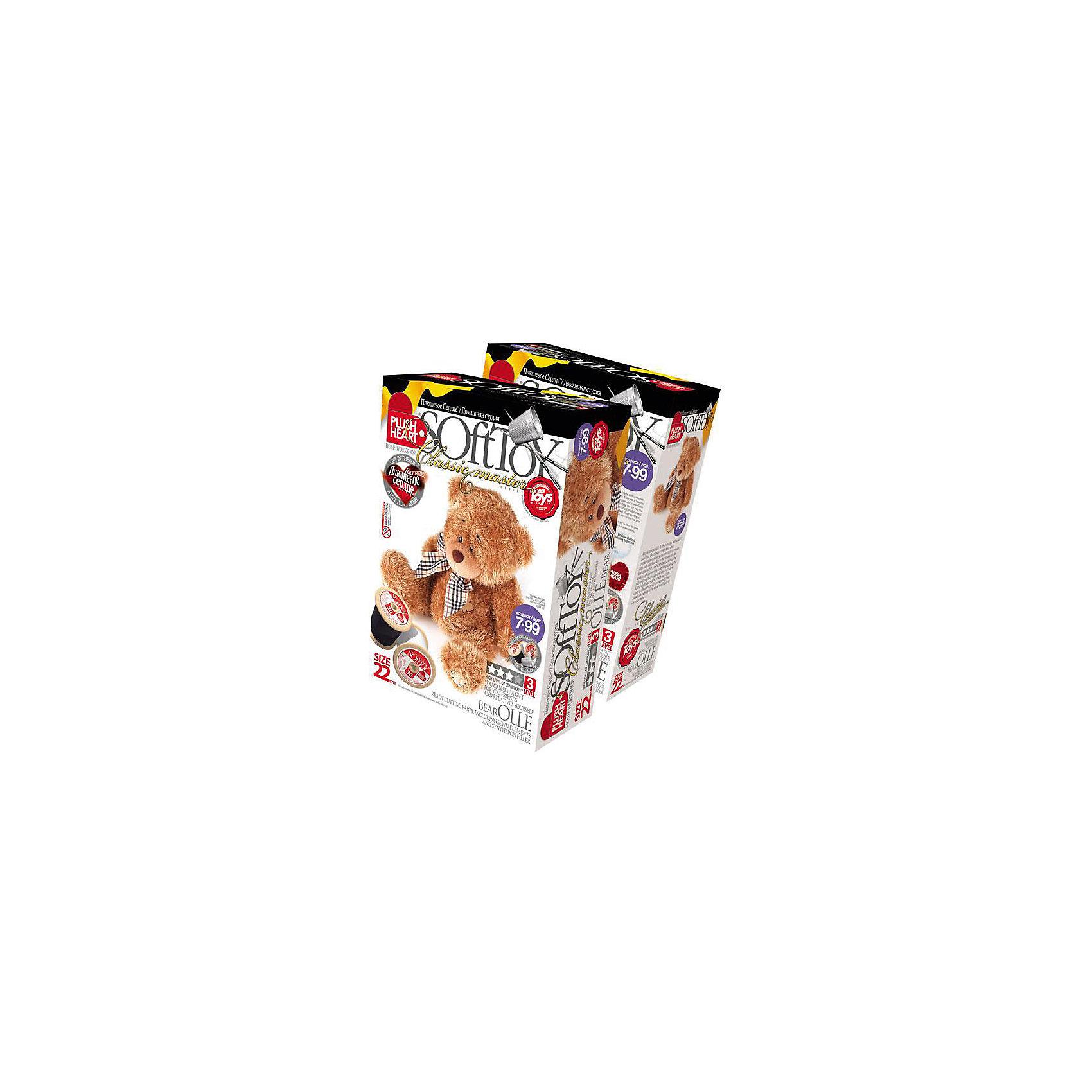 Набор Медведь Олле, Plush HeartРукоделие<br>С помощью Набора Медведь Олле, Plush Heart (Плюшевое сердце) Ваш ребенок сможет сшить великолепную мягкую игрушку медвежонка Олле . В комплект набора, кроме необходимых аксессуаров, чертежей выкройки и заготовок, входит маленькое плюшевое сердечко, которое вкладывается внутрь мягкой игрушки, что делает ее почти живой. Уровень сложности 3 из 4.<br><br>Комплектация: пошитая голова игрушки, детали туловища, синтепоновая набивка, мешочек с полимерными гранулами, нитки, плюшевое сердце<br><br>Дополнительная информация:<br>-Вес в упаковке: 310 г <br>-Размеры в упаковке: 280х190х90 мм<br>-Материалы: синтепон, полимерные гранулы, плюш, текстиль<br>-Размер готовой игрушки: 220 мм<br><br>Приложив немного терпения, фантазии и сердца, Ваш ребенок создаст чудесную мягкую игрушку, которая будет только его, со своим неповторимым характером, поскольку игрушки ручной работы никогда не бывают одинаковыми, даже если сшиты по одному лекалу из одинаковых материалов!<br><br>Набор Медведь Олле, Plush Heart (Плюшевое сердце) можно купить в нашем магазине.<br><br>Ширина мм: 280<br>Глубина мм: 190<br>Высота мм: 90<br>Вес г: 310<br>Возраст от месяцев: 84<br>Возраст до месяцев: 144<br>Пол: Женский<br>Возраст: Детский<br>SKU: 4051625