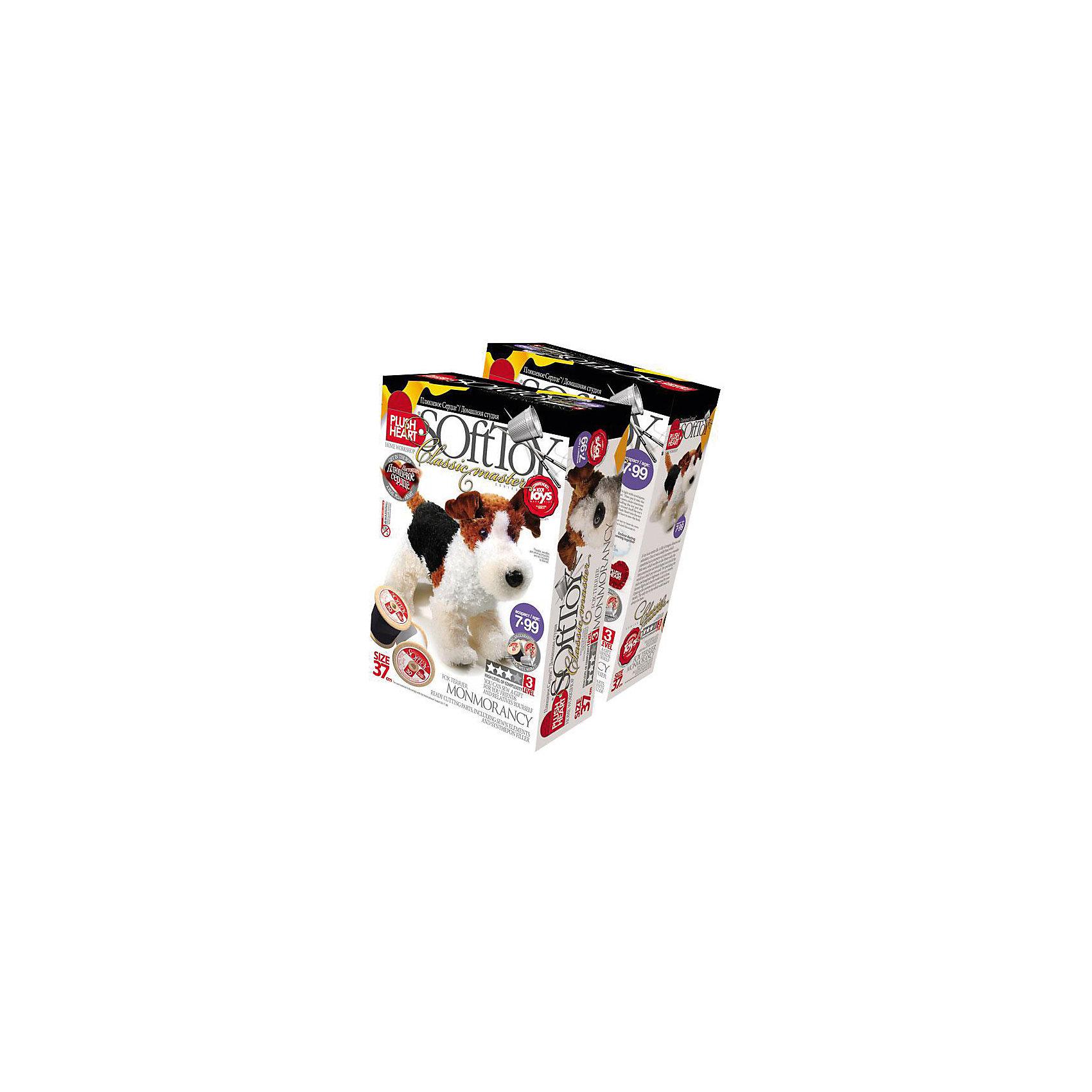 Набор Фокстерьер Монморенси, Plush HeartРукоделие<br>Из Набора Фокстерьер Монморенси, Plush Heart (Плюшевое сердце) Ваш ребенок сможет сшить великолепную мягкую игрушку собачку породы фокстерьер. В комплект набора, кроме необходимых аксессуаров, чертежей выкройки и заготовок, входит маленькое плюшевое сердечко, которое вкладывается внутрь мягкой игрушки, что делает ее почти живой. Уровень сложности 3 из 4.<br><br>Комплектация: пошитая голова игрушки, детали туловища, синтепоновая набивка, мешочек с полимерными гранулами, нитки, плюшевое сердце<br><br>Дополнительная информация:<br>-Вес в упаковке: 310 г <br>-Размеры в упаковке: 280х190х90 мм<br>-Материалы: синтепон, полимерные гранулы, плюш, текстиль<br>-Размер готовой игрушки: 370 мм<br><br>Набор Фокстерьер Монморенси станет отличным подарком как для юных мастеров и мастериц, ведь пушистый и добрый фокстерьер, сделанный своими руками, будет верным другом для своих хозяев!<br><br>Набор Фокстерьер Монморенси, Plush Heart (Плюшевое сердце) можно купить в нашем магазине.<br><br>Ширина мм: 280<br>Глубина мм: 190<br>Высота мм: 90<br>Вес г: 310<br>Возраст от месяцев: 84<br>Возраст до месяцев: 144<br>Пол: Женский<br>Возраст: Детский<br>SKU: 4051626