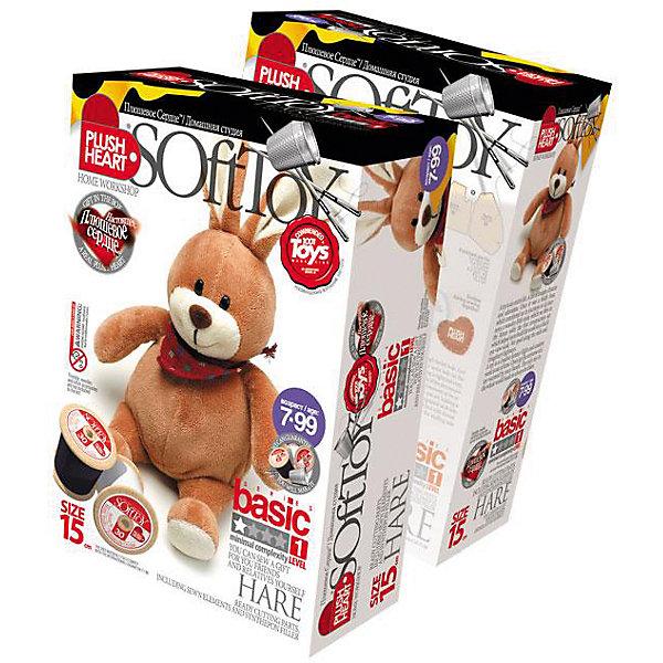 Набор Зайчик, Plush HeartШитьё<br>С помощью Набора Зайчик, Plush Heart (Плюшевое сердце) Ваш ребенок сможет сшить великолепную мягкую игрушку. В комплект набора, кроме необходимых аксессуаров, чертежей выкройки и заготовок, входит маленькое плюшевое сердечко, которое вкладывается внутрь мягкой игрушки. Вкладывая плюшевое сердце внутрь, Вы словно одушевляете сшитую своими руками мягкую игрушку. Уровень сложности 1 из 4.<br><br>Комплектация: сшитая голова игрушки, руки и ноги, детали кроя туловища, синтепоновая набивка, капроновый мешочек с полигранулами, плюшевое сердце<br><br>Дополнительная информация:<br>-Вес в упаковке: 120 г <br>-Размеры в упаковке: 225х150х70 мм<br>-Материалы: синтепон, полимерные гранулы, плюш, текстиль<br>-Размер готовой игрушки: 150 мм<br><br>Игрушка, сделанная руками ребенка, – это лучший подарок для близких и друзей!<br><br>Набор Зайчик, Plush Heart (Плюшевое сердце) можно купить в нашем магазине.<br><br>Ширина мм: 225<br>Глубина мм: 150<br>Высота мм: 70<br>Вес г: 120<br>Возраст от месяцев: 84<br>Возраст до месяцев: 144<br>Пол: Женский<br>Возраст: Детский<br>SKU: 4051629