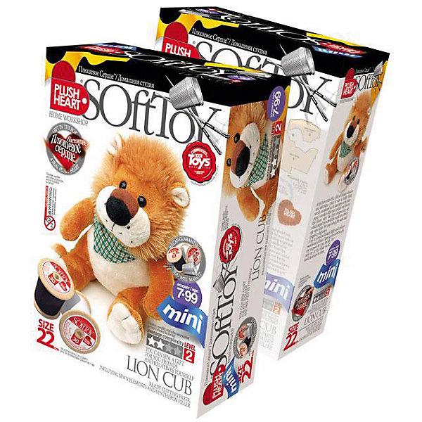 Набор Львенок, Plush HeartШитьё<br>Набор Львенок, Plush Heart (Плюшевое сердце) предназначен для шитья великолепной мягкой игрушки забавного львенка. В комплект набора, кроме необходимых аксессуаров, чертежей выкройки и заготовок, входит маленькое плюшевое сердечко, которое вкладывается внутрь мягкой игрушки, что делает ее почти живой. Уровень сложности 2 из 4.<br><br>Комплектация: пошитая голова игрушки, детали туловища, лапы и хвост, синтепоновая набивка, капроновый мешочек с полигранулами, нитки, плюшевое сердце<br><br>Дополнительная информация:<br>-Вес в упаковке: 110 г <br>-Размеры в упаковке: 225х150х70 мм<br>-Материалы: синтепон, полимерные гранулы, плюш, текстиль<br>-Размер готовой игрушки: 220 мм<br><br>Игрушка, сделанная руками ребенка, – это лучший подарок для близких и друзей!<br><br>Набор Львенок, Plush Heart (Плюшевое сердце) можно купить в нашем магазине.<br><br>Ширина мм: 225<br>Глубина мм: 150<br>Высота мм: 70<br>Вес г: 110<br>Возраст от месяцев: 84<br>Возраст до месяцев: 144<br>Пол: Женский<br>Возраст: Детский<br>SKU: 4051632