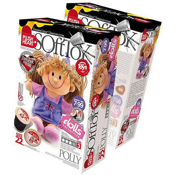 Набор Полинка, Plush HeartШитьё<br>Интересный творческий Набор Полинка, Plush Heart позволит Вашему ребенку сшить великолепную мягкую игрушку – куколку по имени Полинка. Голова, платье, руки и ноги игрушки уже пошиты. Остается только сшить их в соответствии с рекомендациями и наполнить куколку синтепоном,  а затем оживить ее при помощи маленького плюшевого сердечка, которое есть в комплекте. Кукла станет самой любимой игрушкой Вашего ребенка! Увлекательный процесс изготовления куклы поможет вашему ребенку развить трудолюбие, аккуратность, художественный вкус, воображение, усидчивость и мелкую моторику. Уровень сложности 3 из 4.<br><br>Комплектация: пошитая голова игрушки, детали туловища, ручки и ножки, синтепоновая набивка, капроновый мешочек с полигранулами, нитки, плюшевое сердце<br><br>Дополнительная информация:<br>-Вес в упаковке: 210 г <br>-Размеры в упаковке: 225х150х70 мм<br>-Материалы: синтепон, полимерные гранулы, плюш, текстиль<br>-Размер готовой игрушки: 220 мм<br><br>Набор Полинка станет отличным подарком для юной мастерицы, ведь самодельная куколка будет верной подружкой своей хозяйки!<br><br>Набор Полинка, Plush Heart (Плюшевое сердце) можно купить в нашем магазине.<br><br>Ширина мм: 225<br>Глубина мм: 150<br>Высота мм: 70<br>Вес г: 210<br>Возраст от месяцев: 84<br>Возраст до месяцев: 144<br>Пол: Женский<br>Возраст: Детский<br>SKU: 4051634